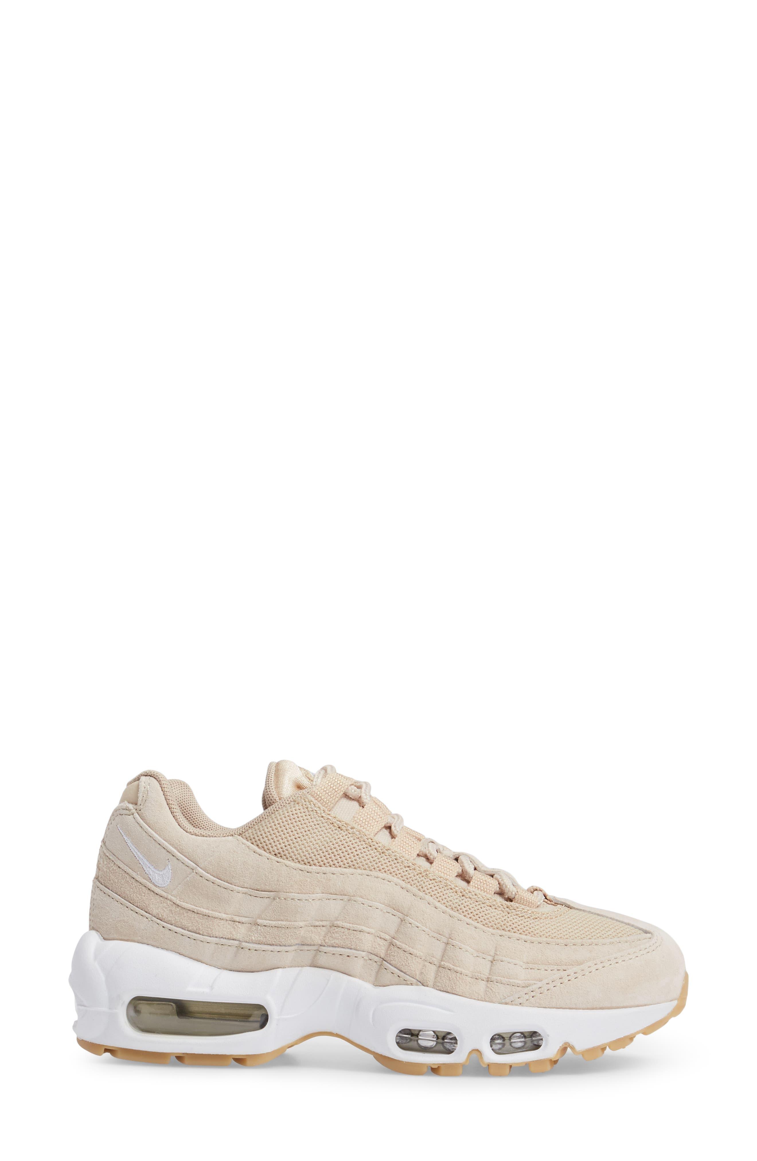 Air Max 95 SD Sneaker,                             Alternate thumbnail 3, color,                             Oatmeal/ White