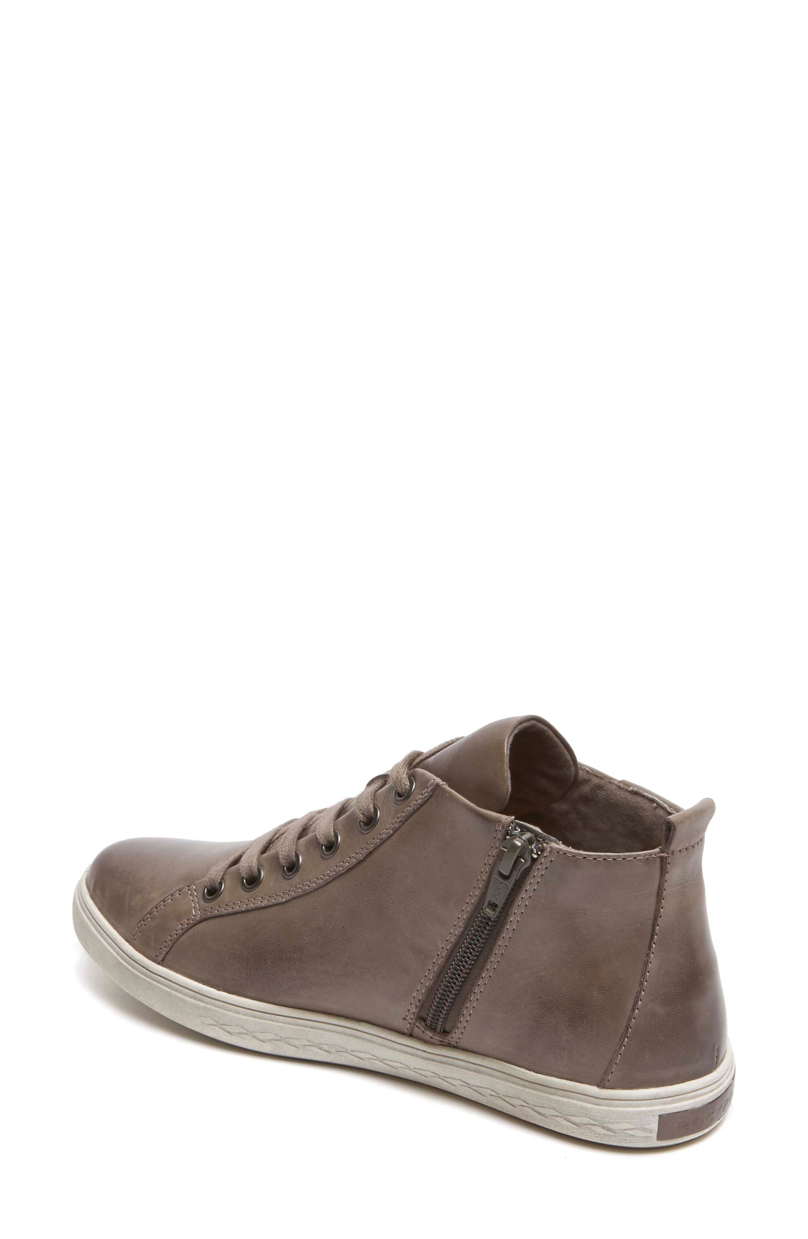 Willa High Top Sneaker,                             Alternate thumbnail 2, color,                             Grey Leather
