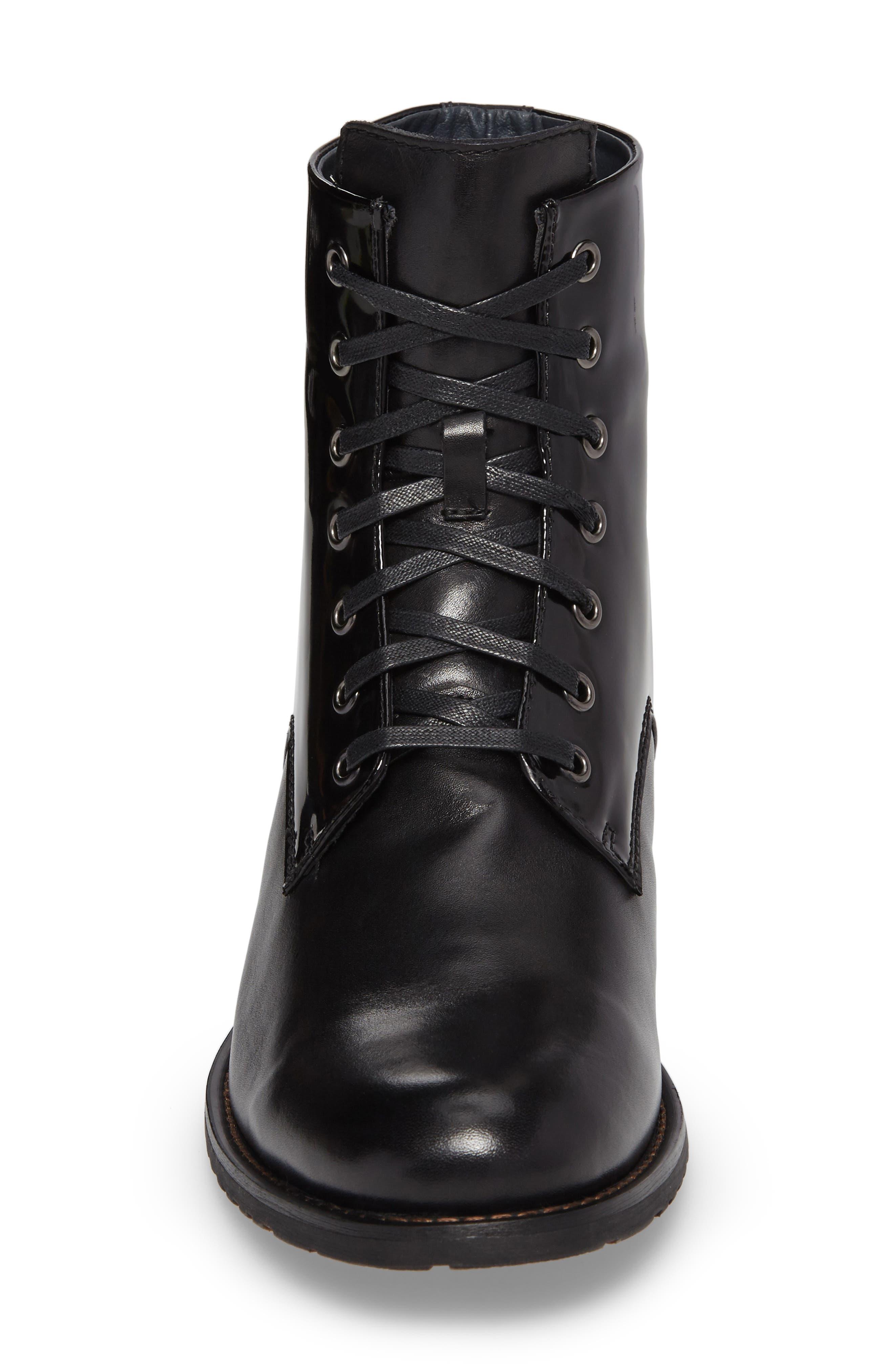 Athol Plain Toe Boot,                             Alternate thumbnail 4, color,                             Black Leather