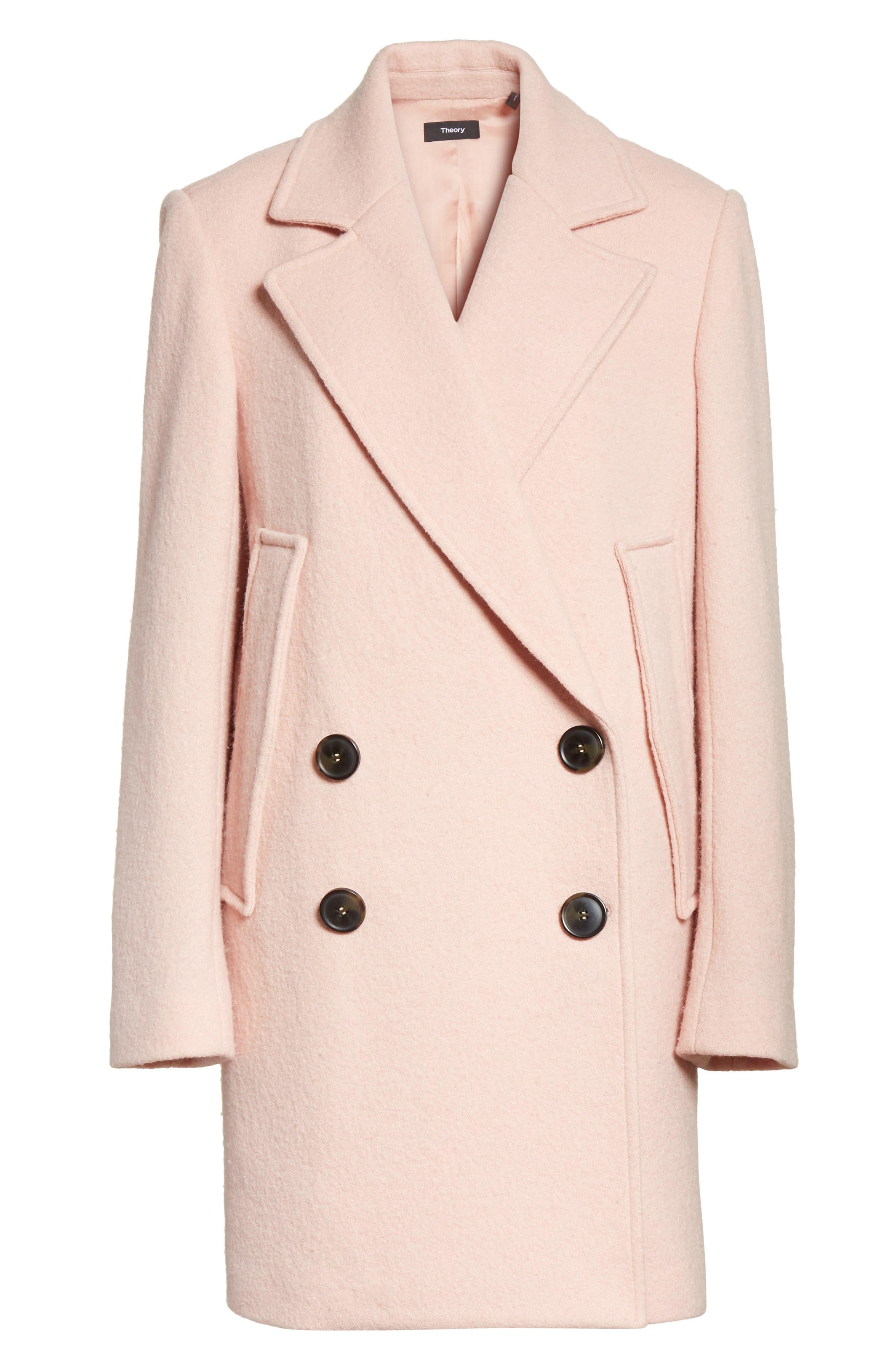 Alternate Image 6  - Theory Wool Bouclé Coat