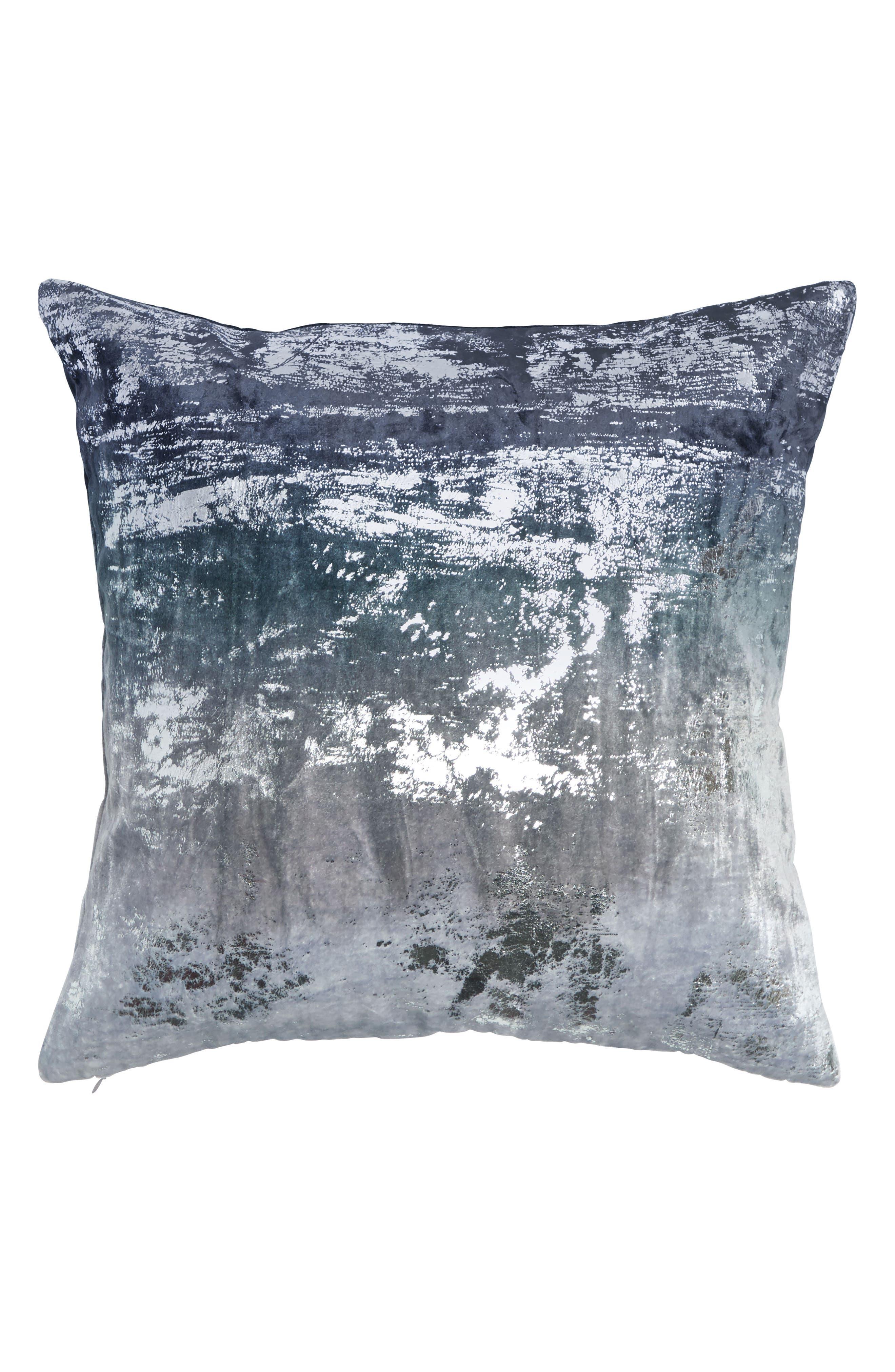 Ocean Velvet Accent Pillow,                             Main thumbnail 1, color,                             Navy