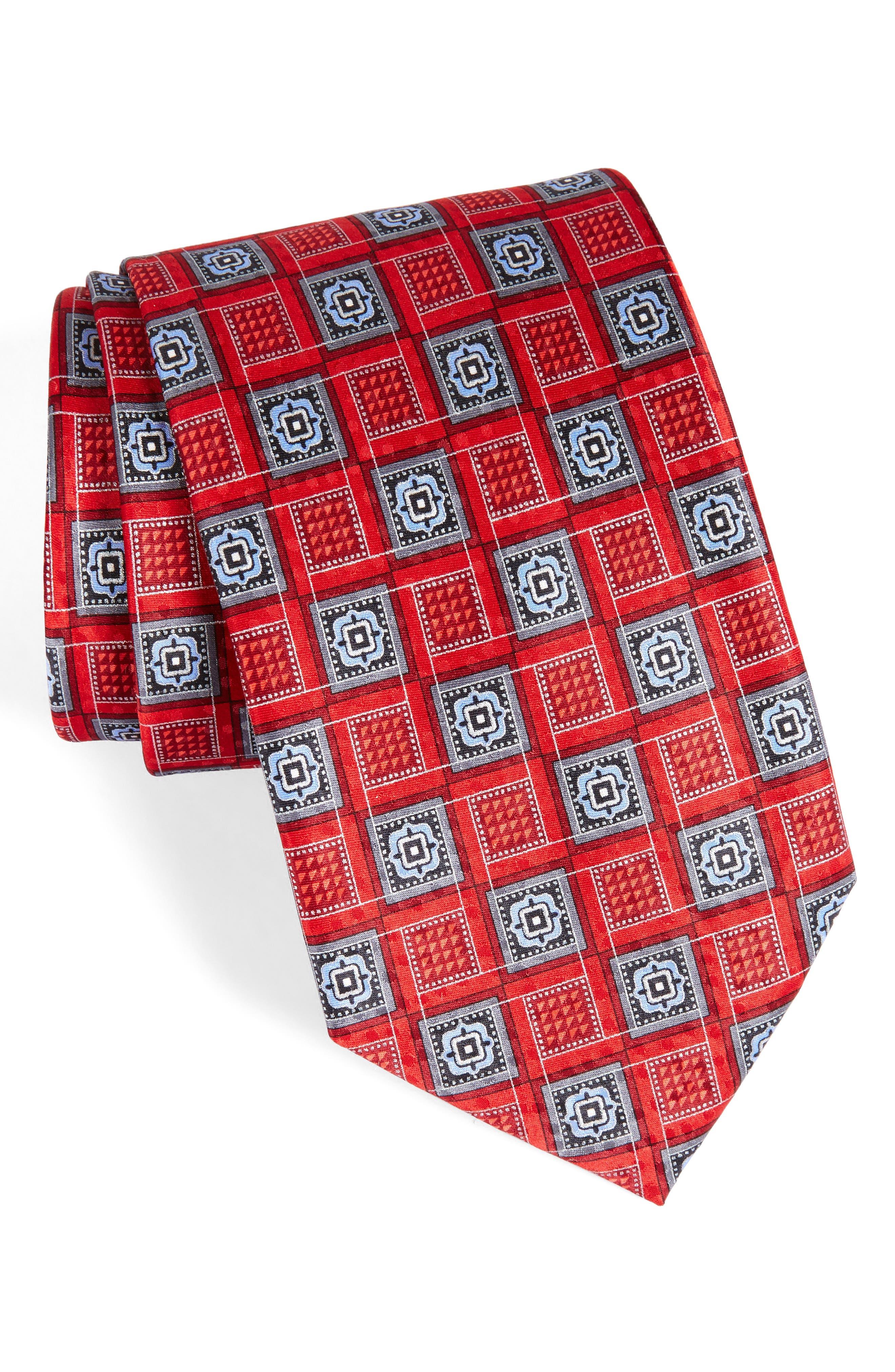 Alternate Image 1 Selected - Nordstrom Men's Shop Geo Silk Tie (X-Long)