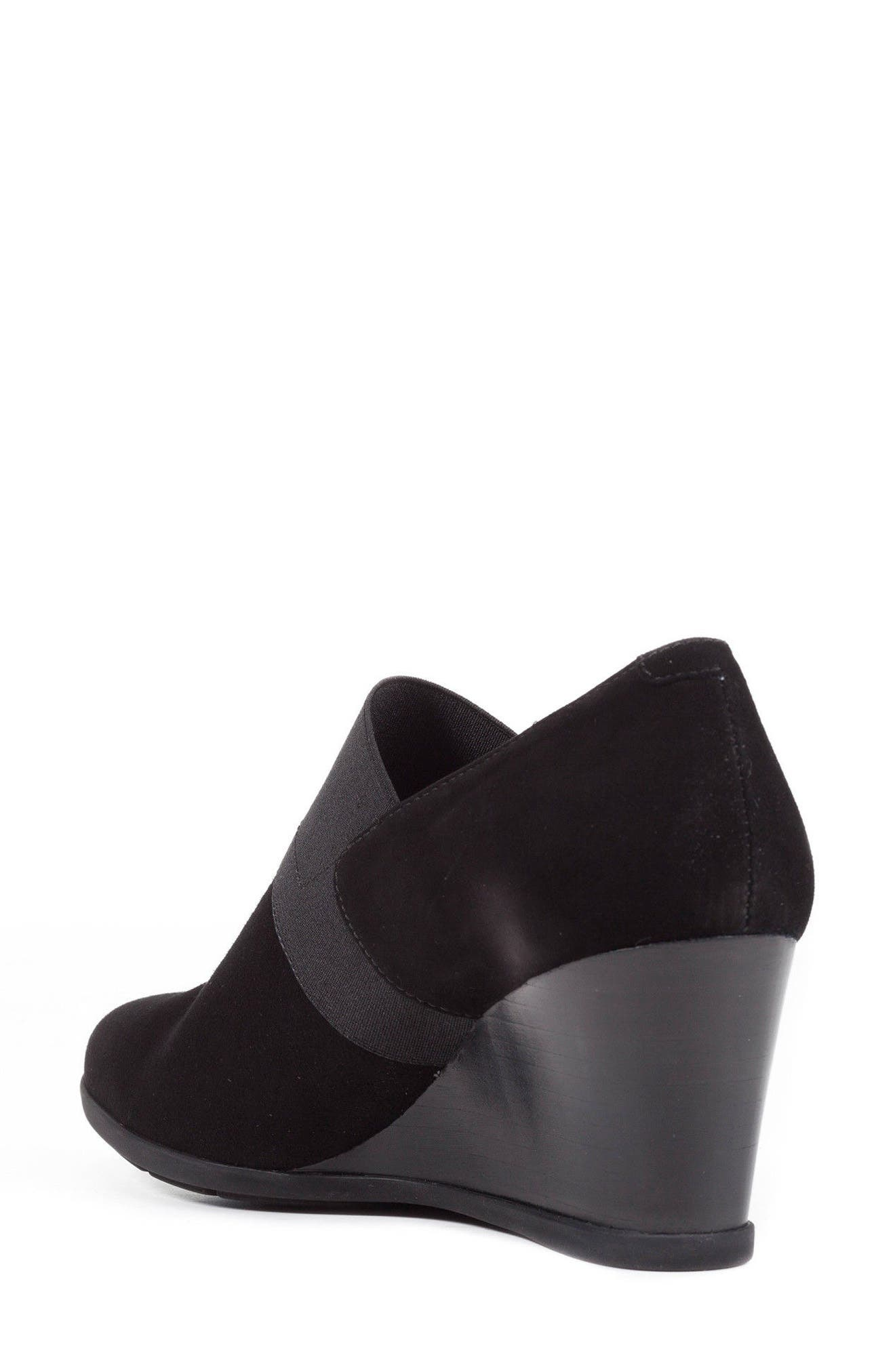 Inspiration Wedge,                             Alternate thumbnail 2, color,                             Black Suede