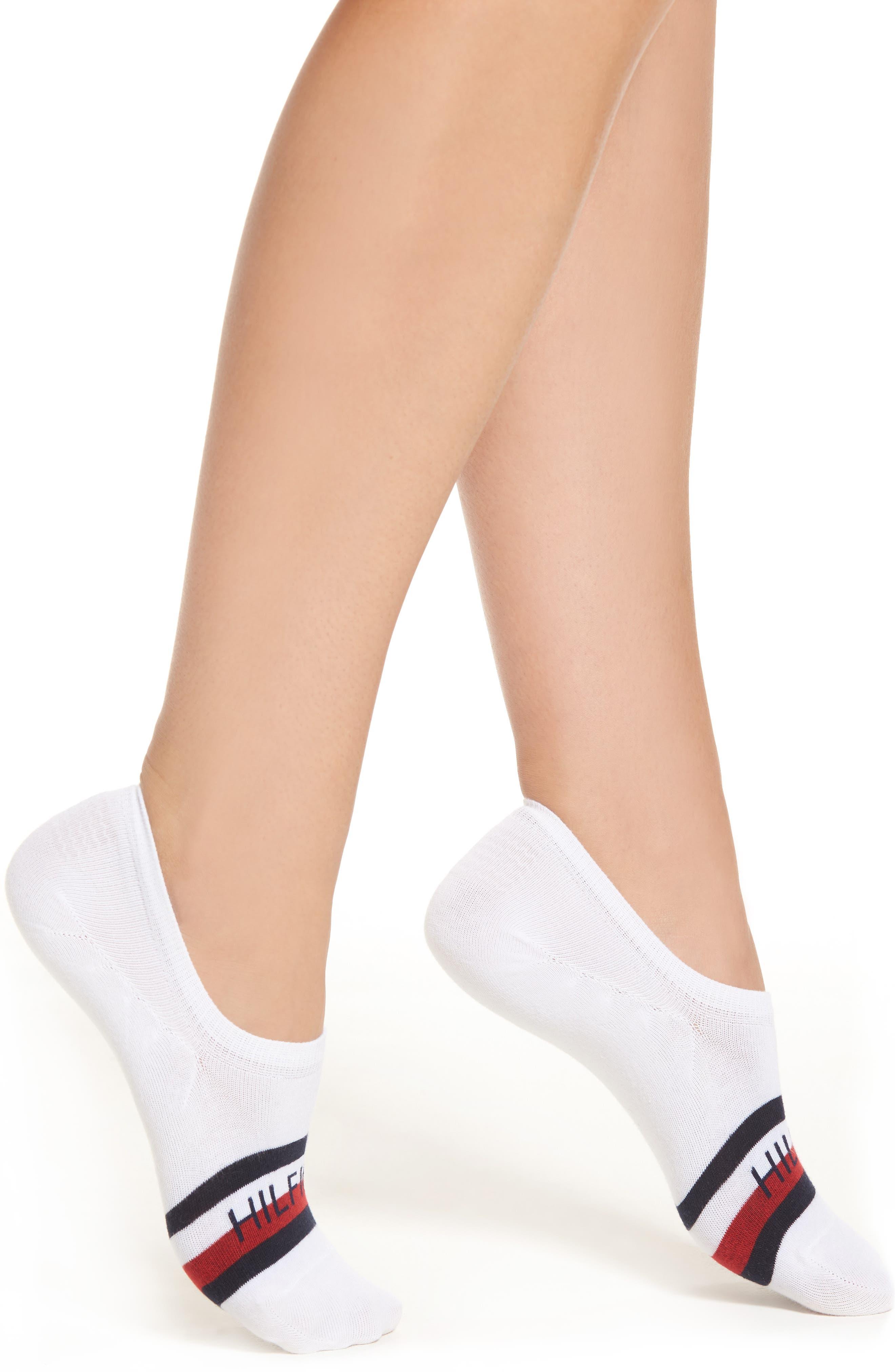 No-Show Socks,                         Main,                         color, White
