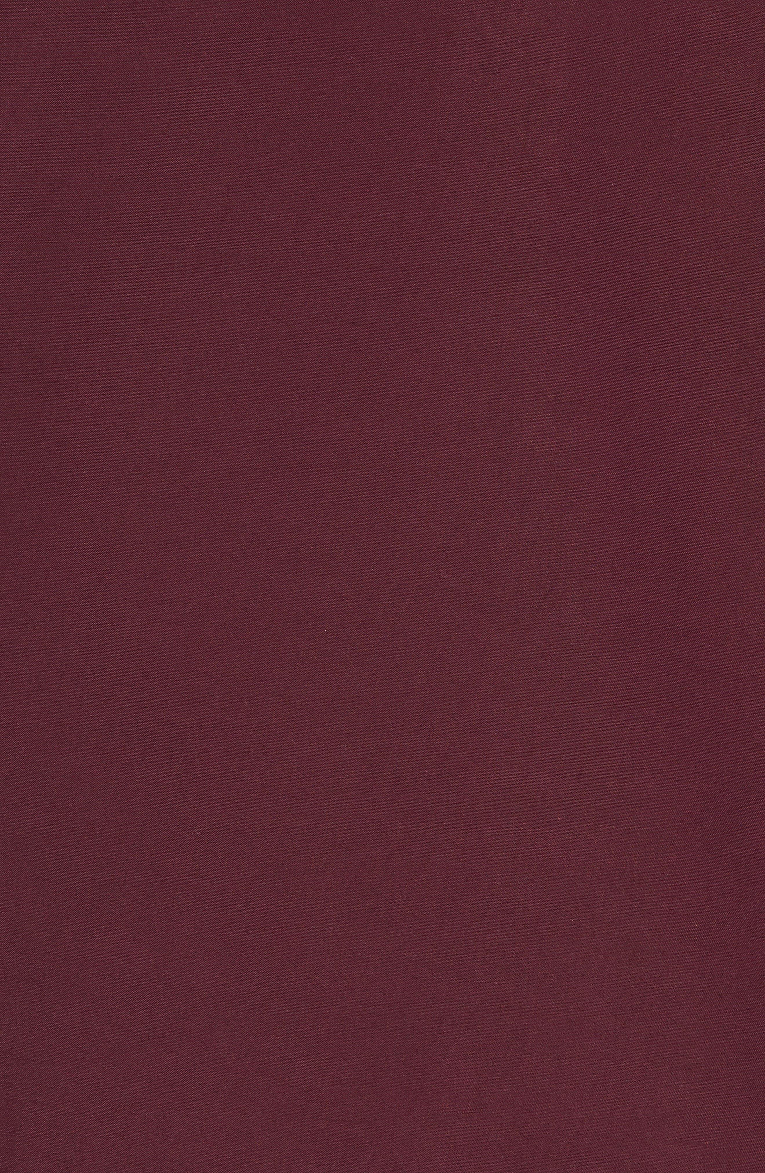 Collared Bomber Jacket,                             Alternate thumbnail 5, color,                             Burgundy Stem