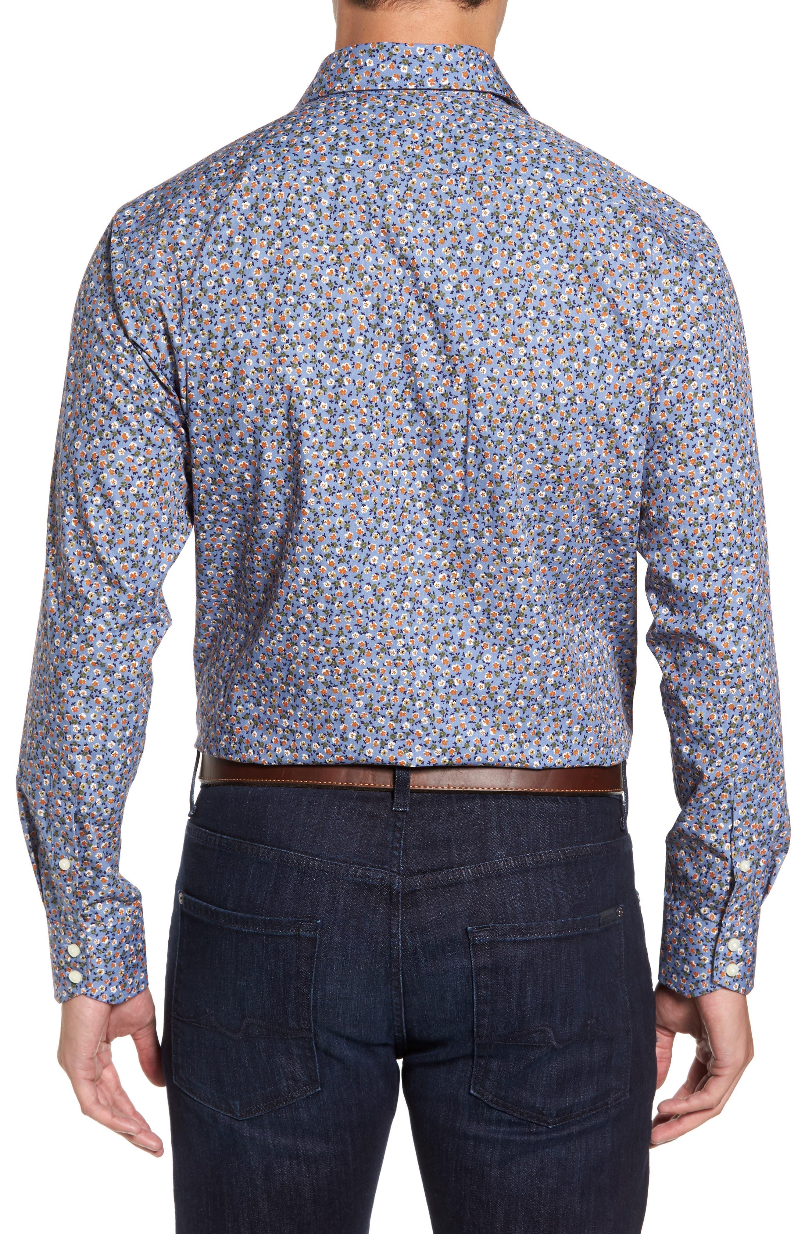 Alternate Image 2  - Thomas Dean Regular Fit Floral Print Sport Shirt