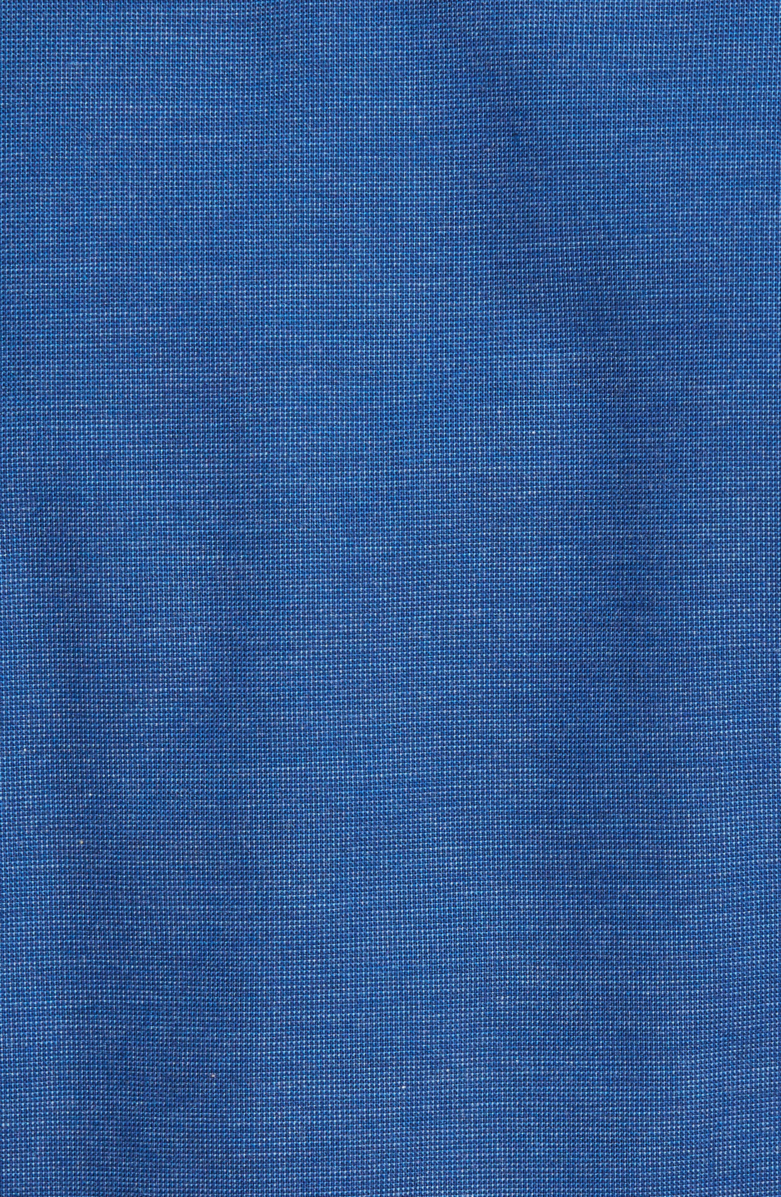 Regular Fit Woven Sport Shirt,                             Alternate thumbnail 5, color,                             Navy