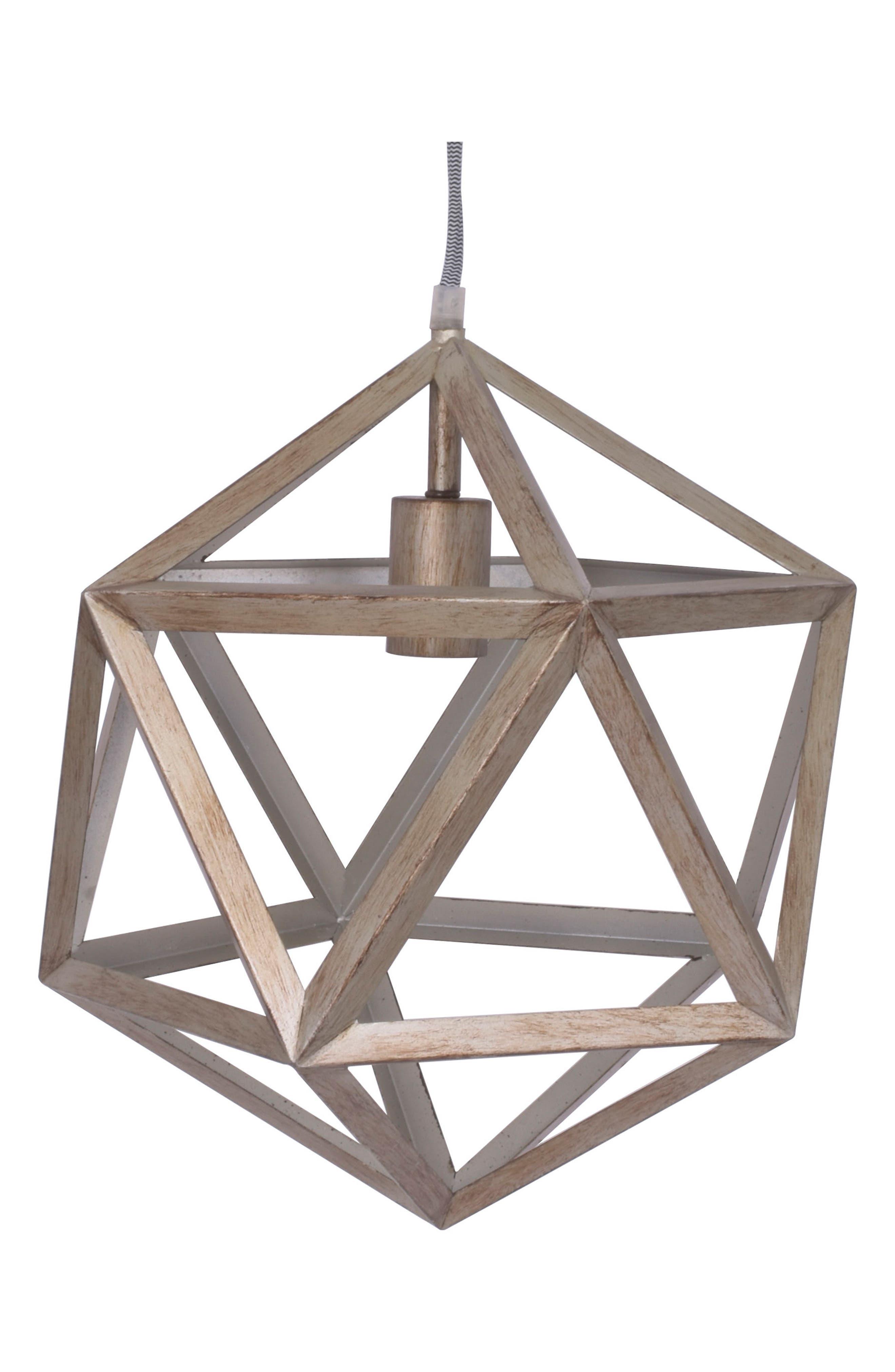 Pendant Lamp,                             Main thumbnail 1, color,                             Metallic Silver