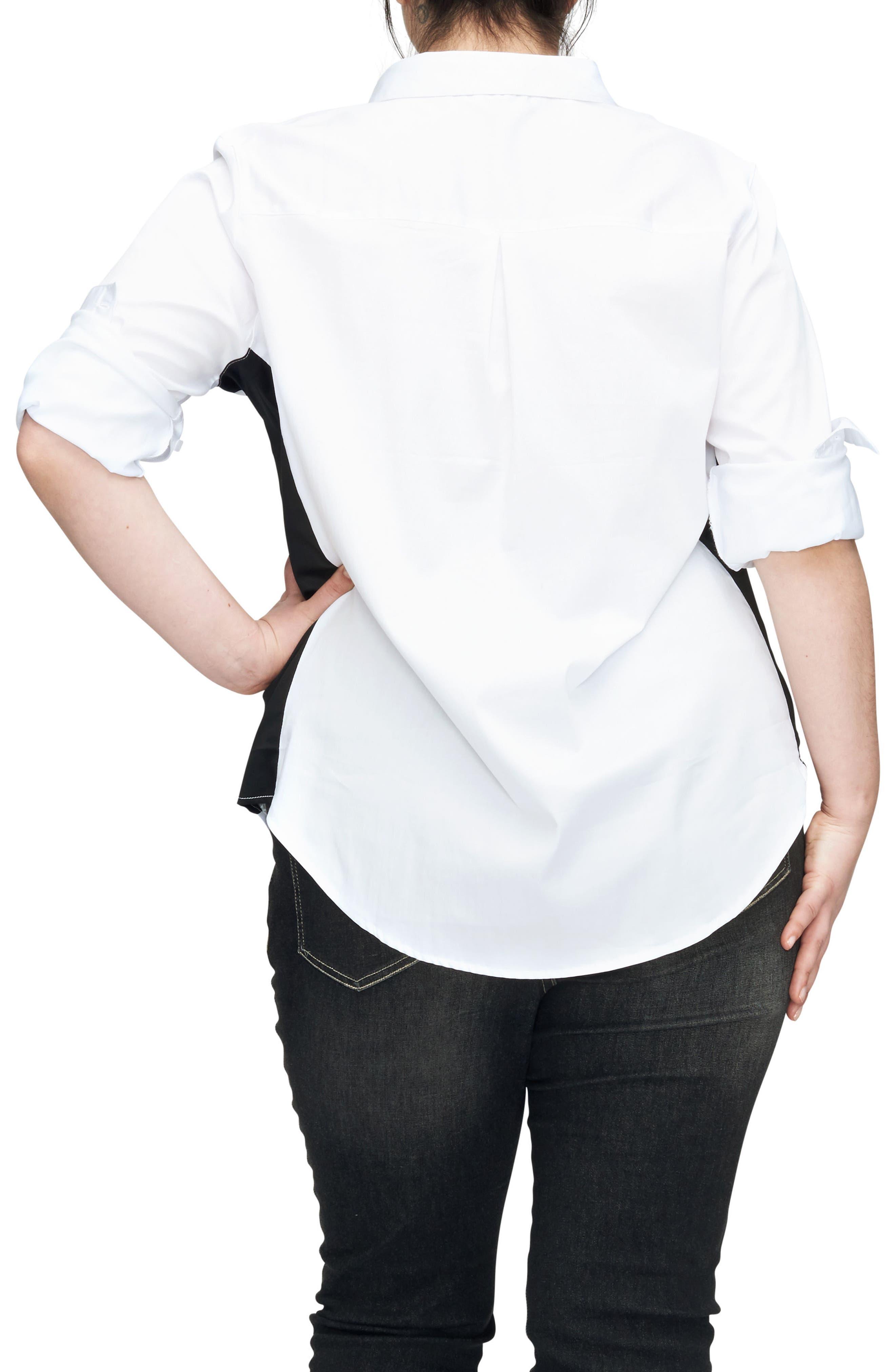 Alternate Image 2  - UNIVERSAL STANDARD Ebro Colorblock Shirt (Plus Size)