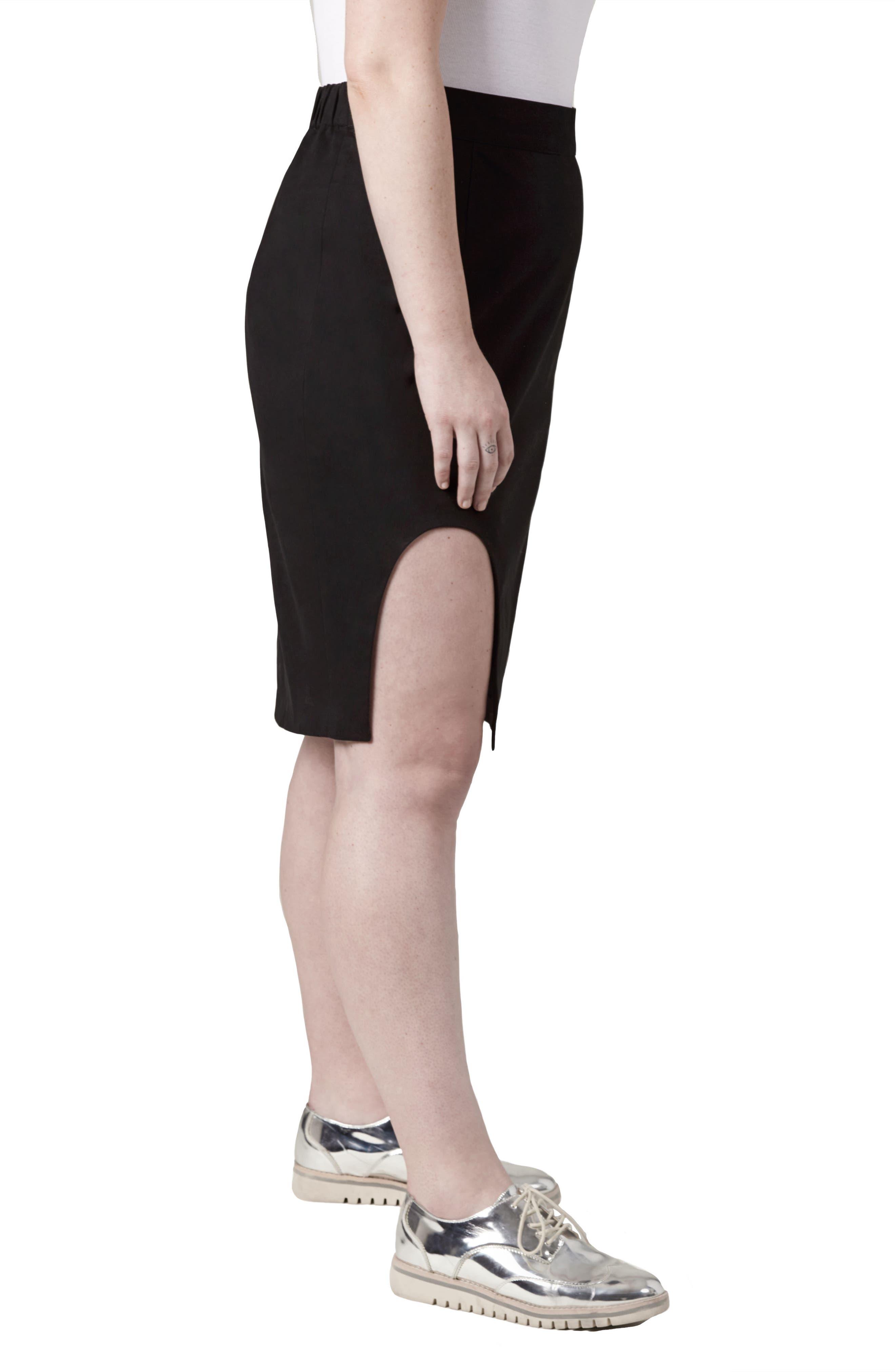 Unity Cutout Skirt,                             Alternate thumbnail 3, color,                             Black