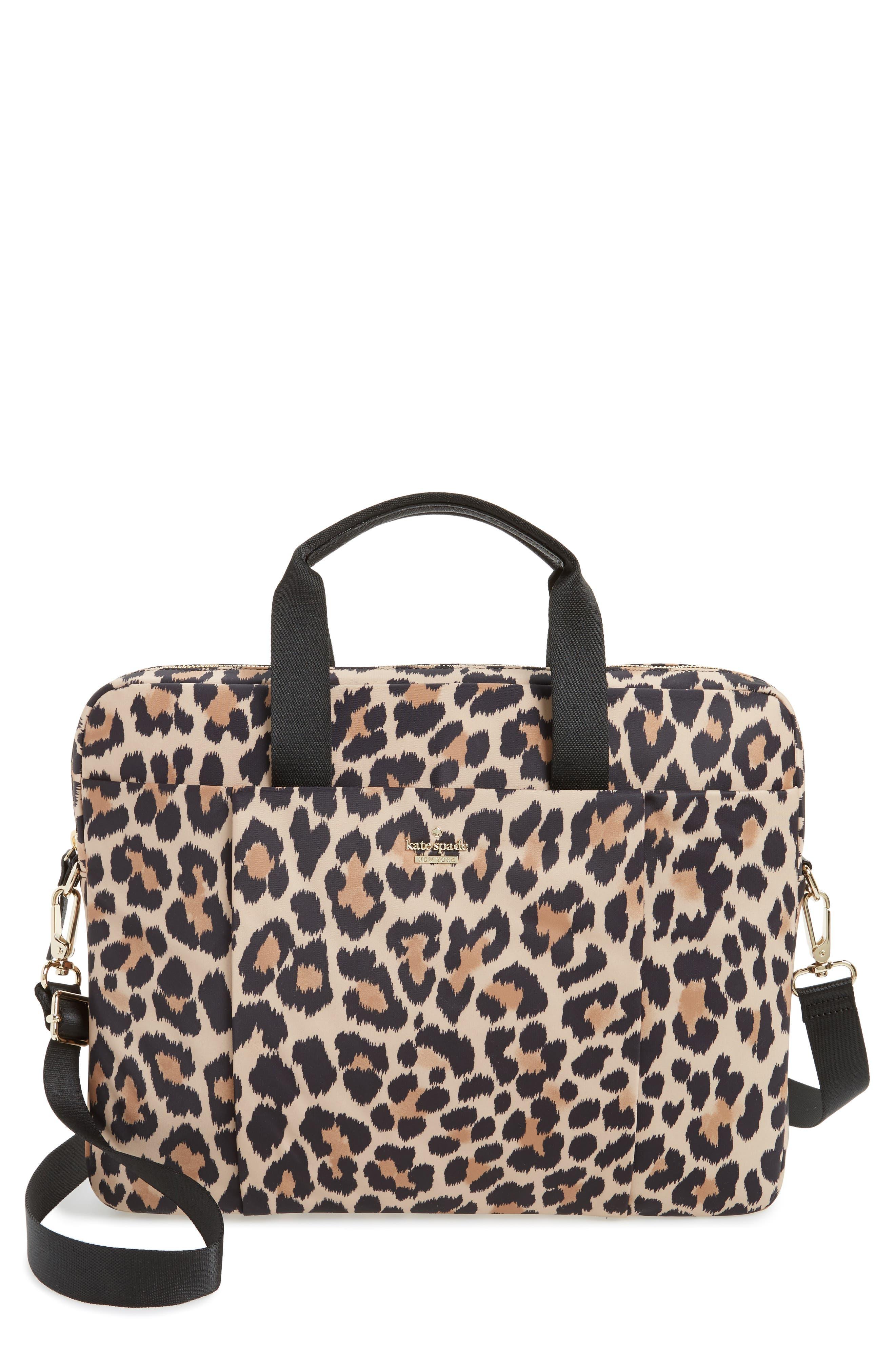 kate spade new york leopard commuter bag
