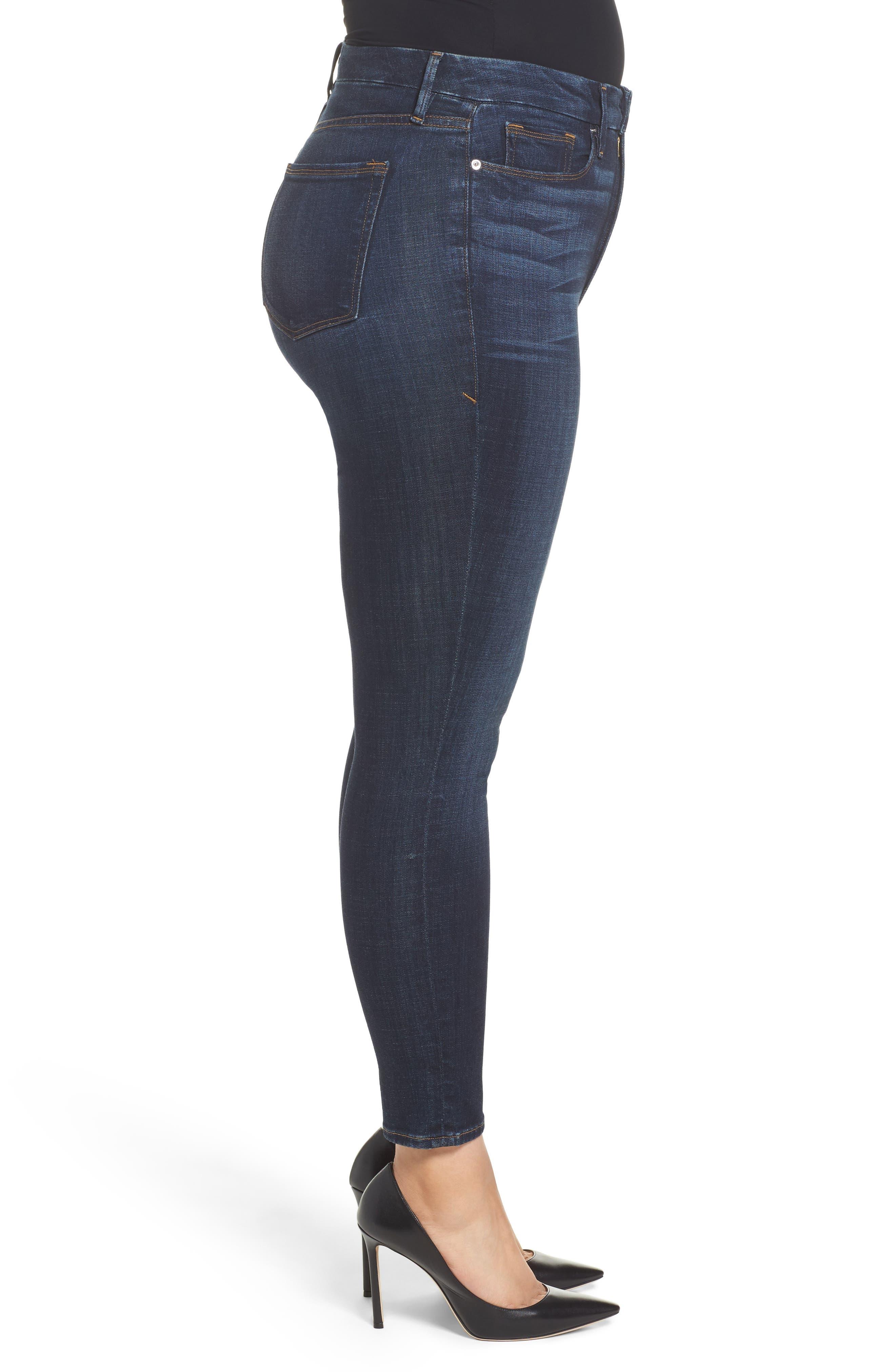 Alternate Image 6  - Good American Good Legs High Waist Ankle Skinny Jeans (Blue 089) (Regular & Plus Size)