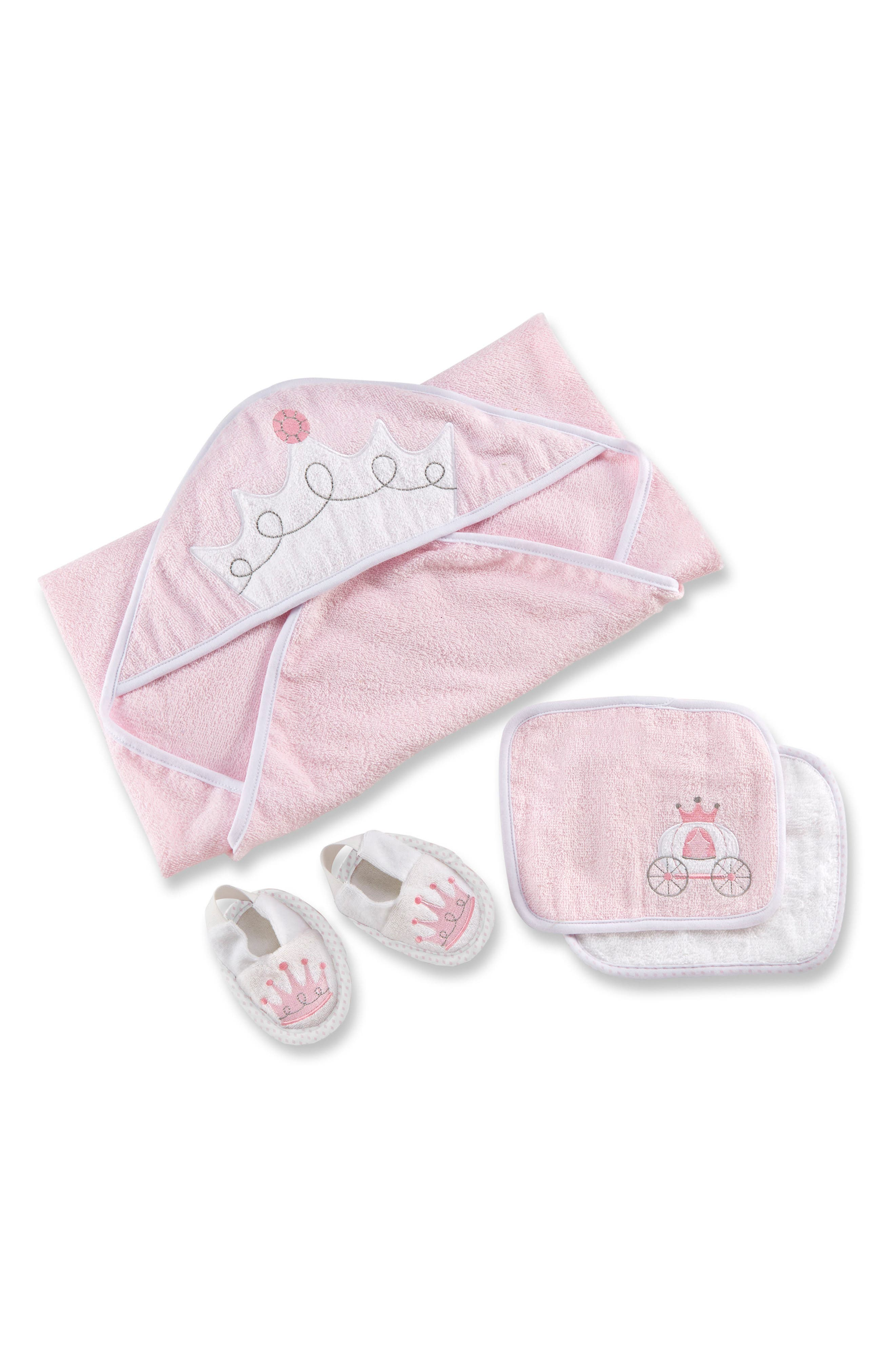 Alternate Image 1 Selected - Baby Aspen Little Princess 4-Piece Bath Set (Baby Girls)