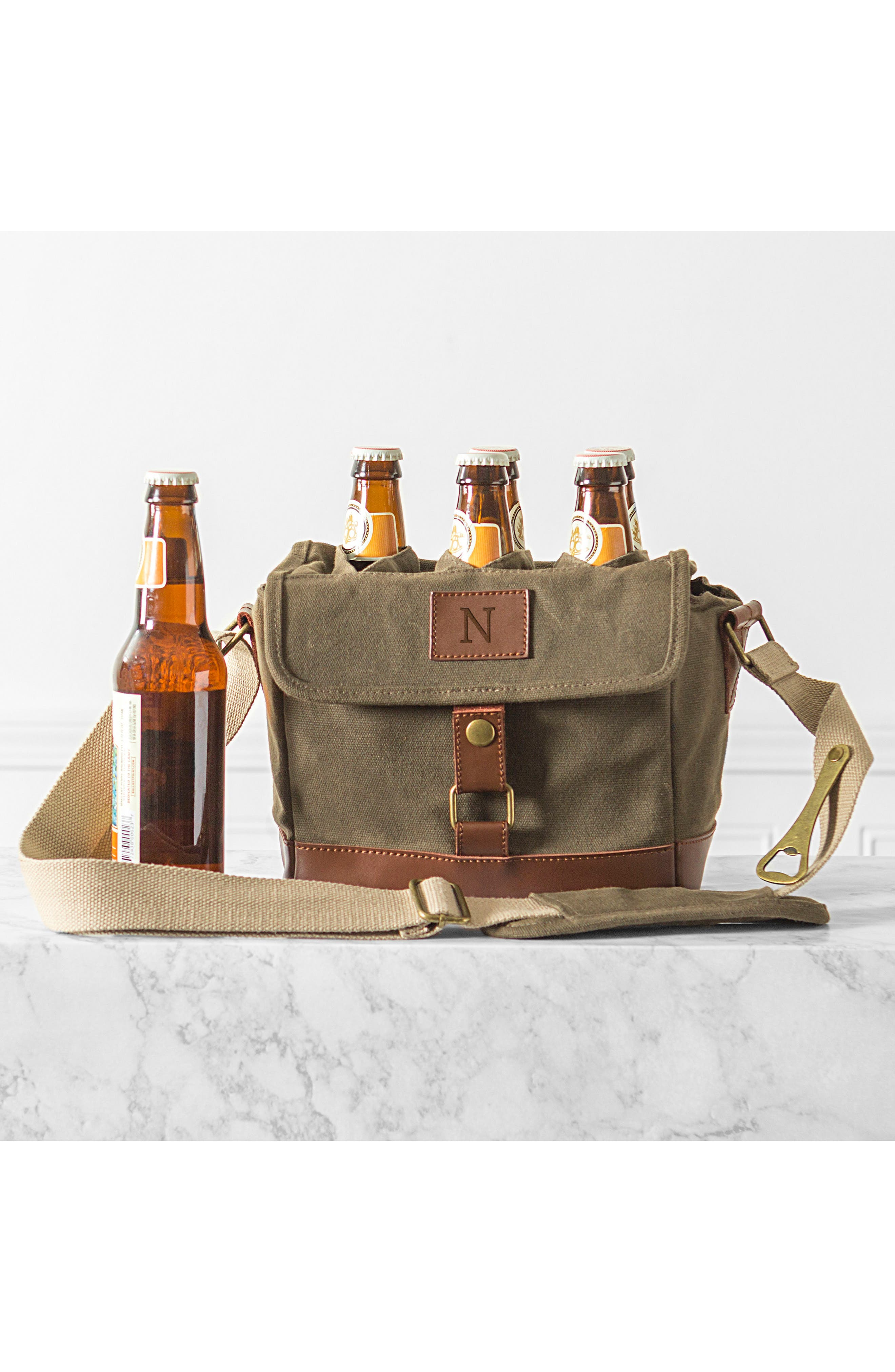 Alternate Image 5  - Cathy's Concepts Monogram 6-Bottle Beer Cooler