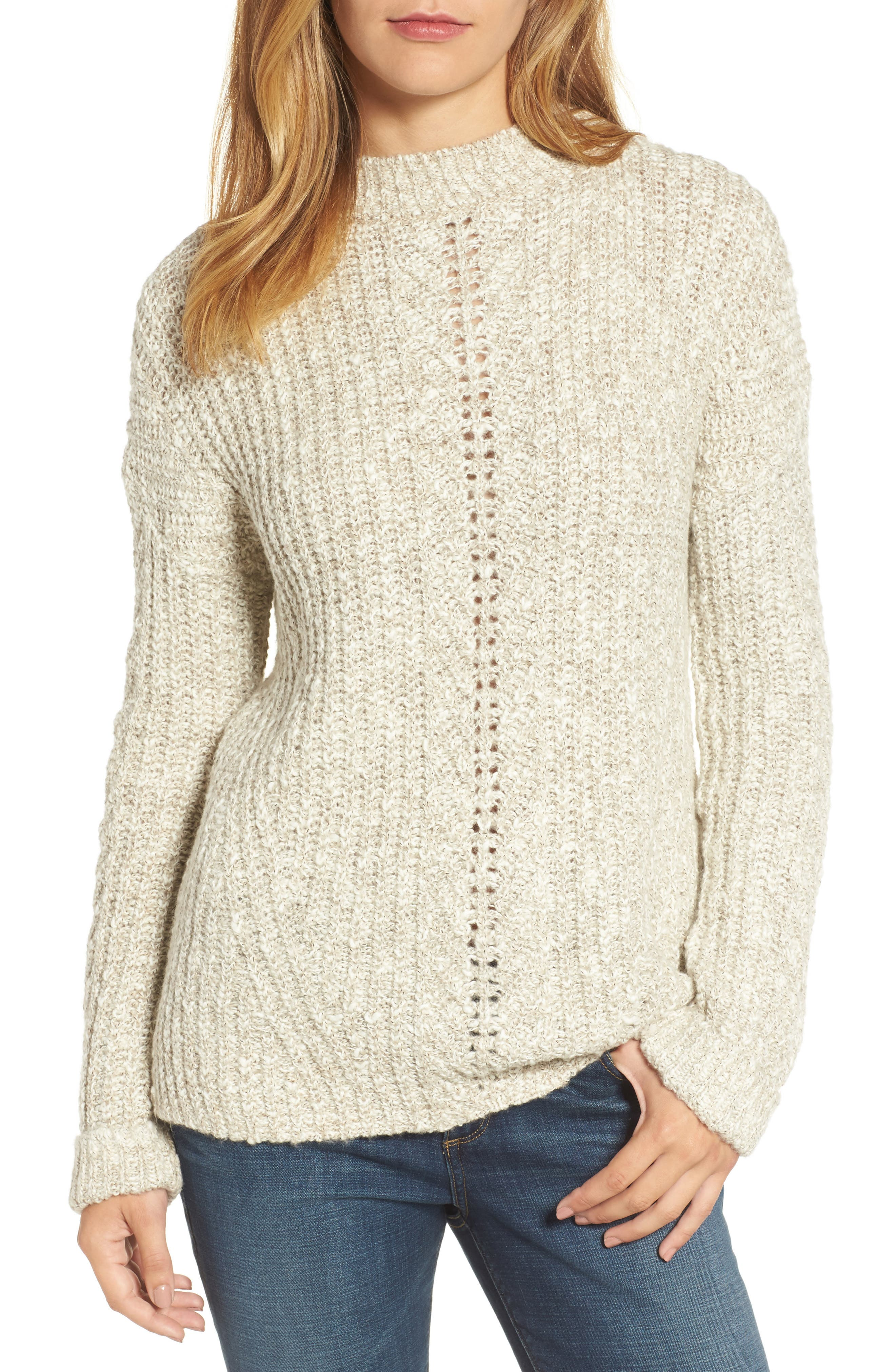 Alternate Image 1 Selected - Lucky Brand Open Stitch Sweater