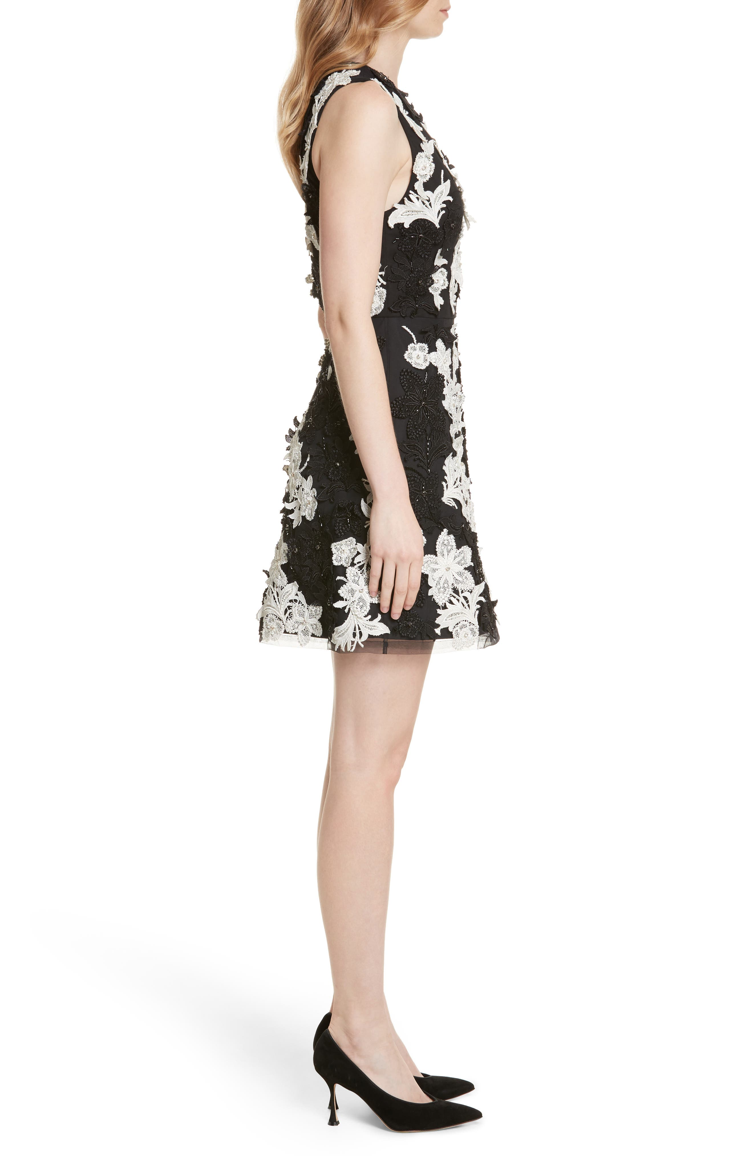 Alternate Image 3  - Alice + Olivia Embellished V-Neck Dress