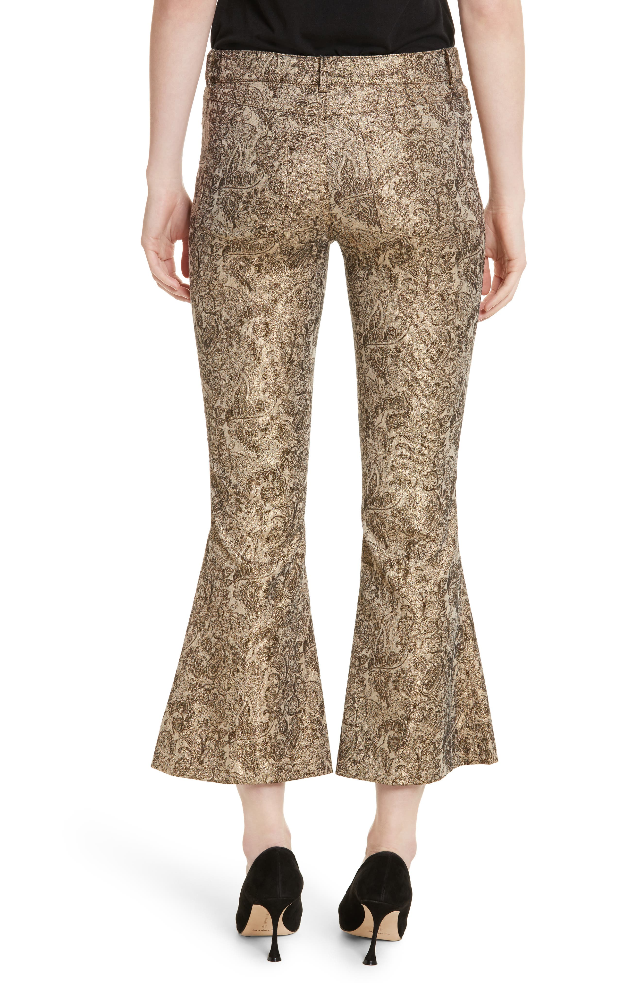 Alternate Image 2  - Alice + Olivia Drew Metallic Crop Bell Pants