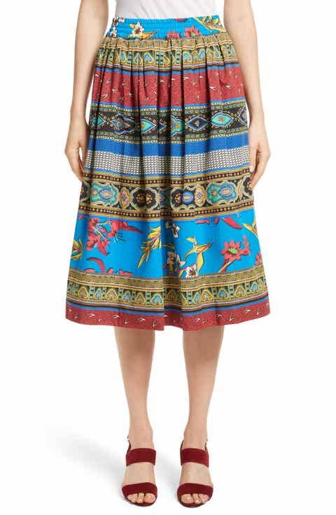 Etro Floral Geo Print Cotton Skirt Best Reviews