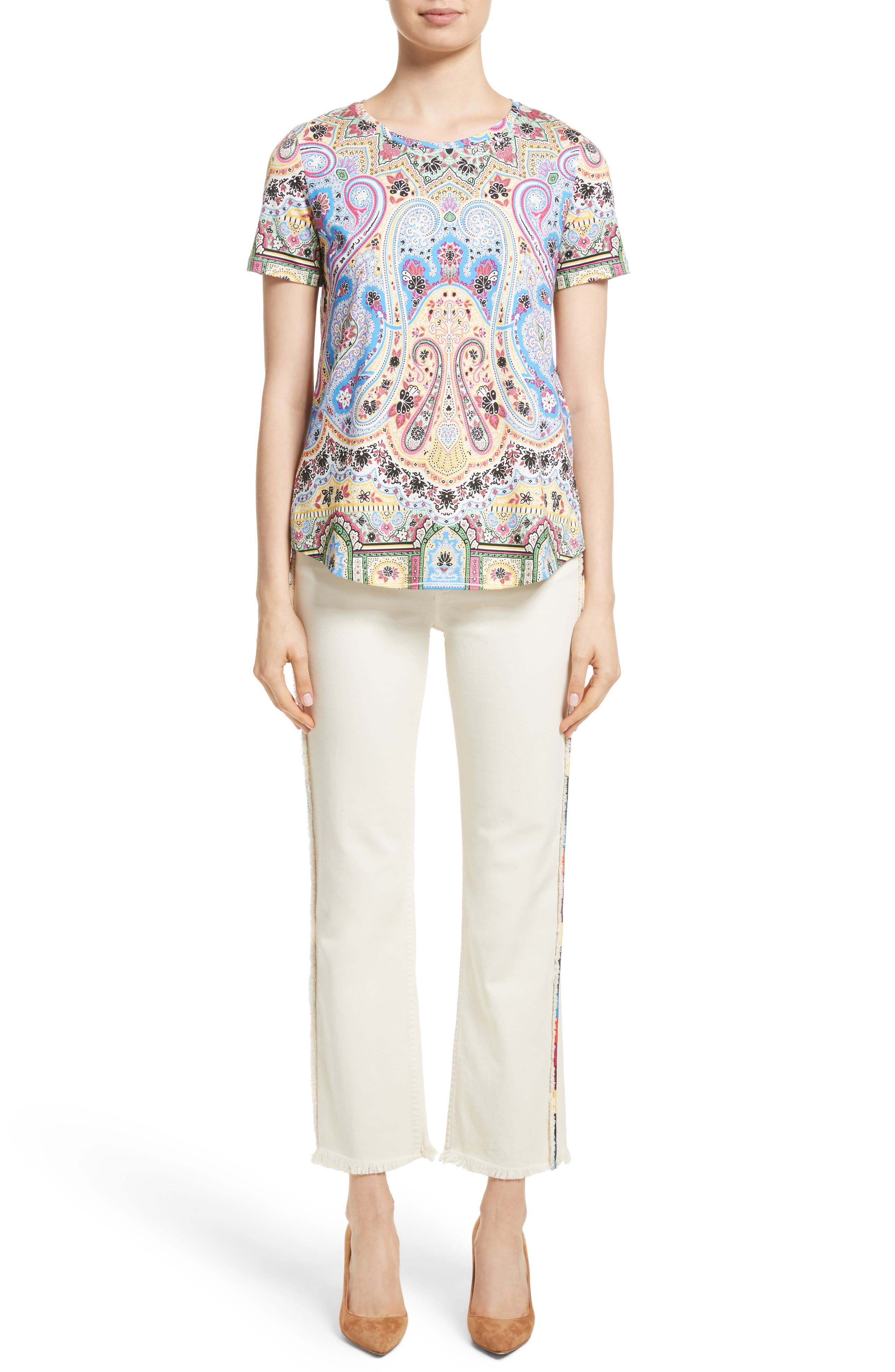 Alternate Image 10  - Etro Embroidered Piping Crop Jeans