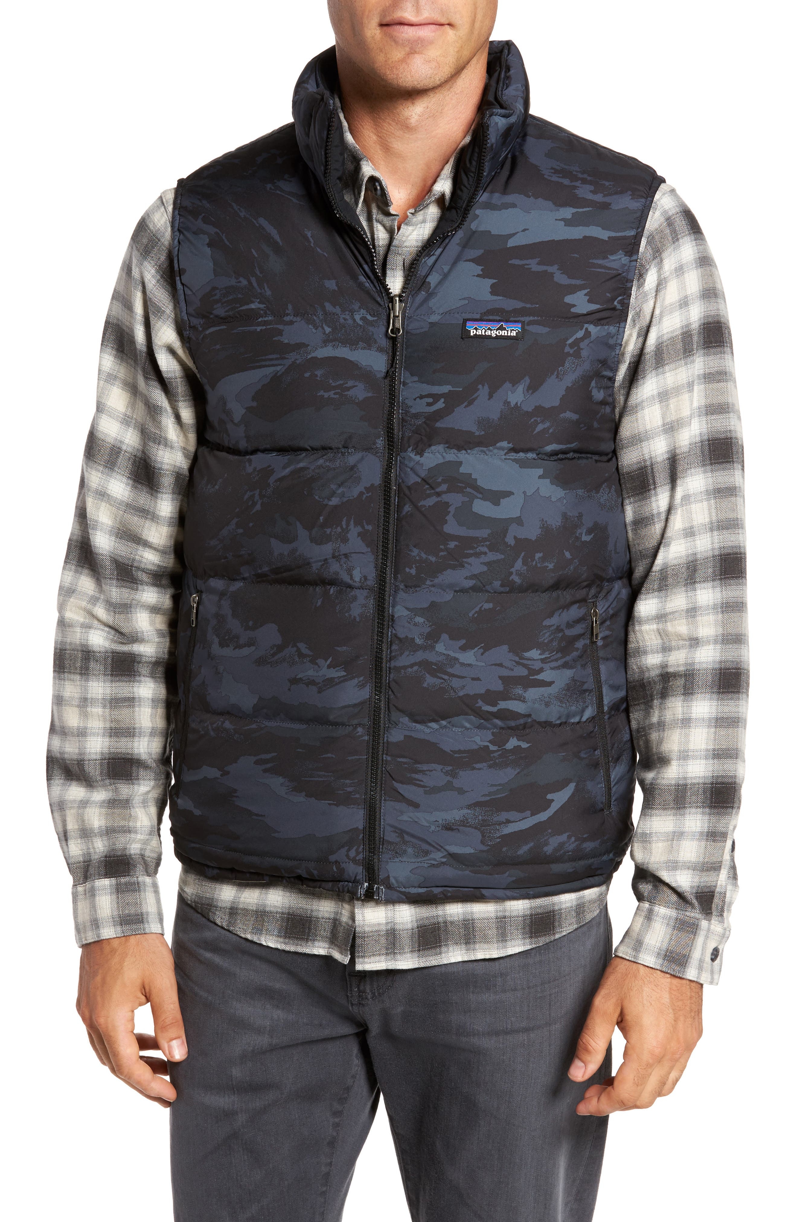 'Bivy' Reversible Down Fill Vest,                             Alternate thumbnail 2, color,                             Feather Grey