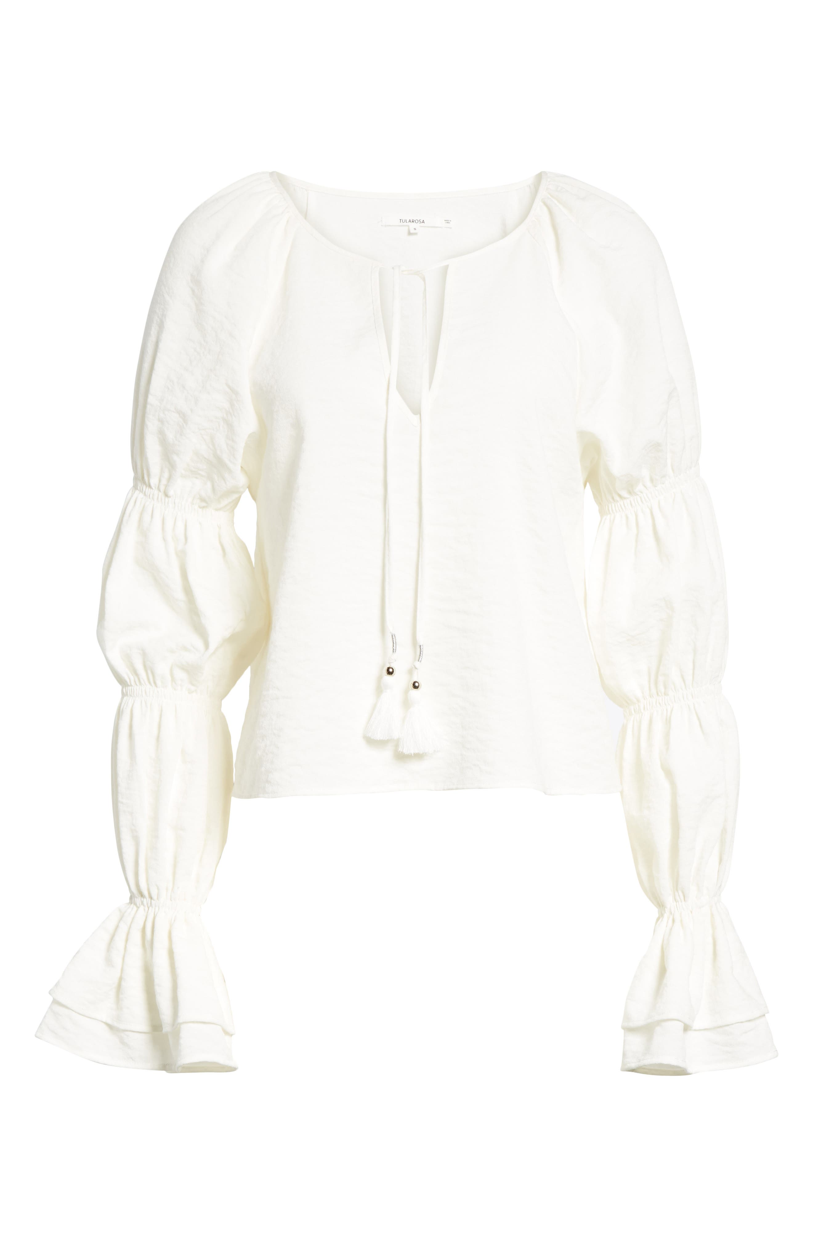 East Puff Sleeve Top,                             Alternate thumbnail 6, color,                             Ivory