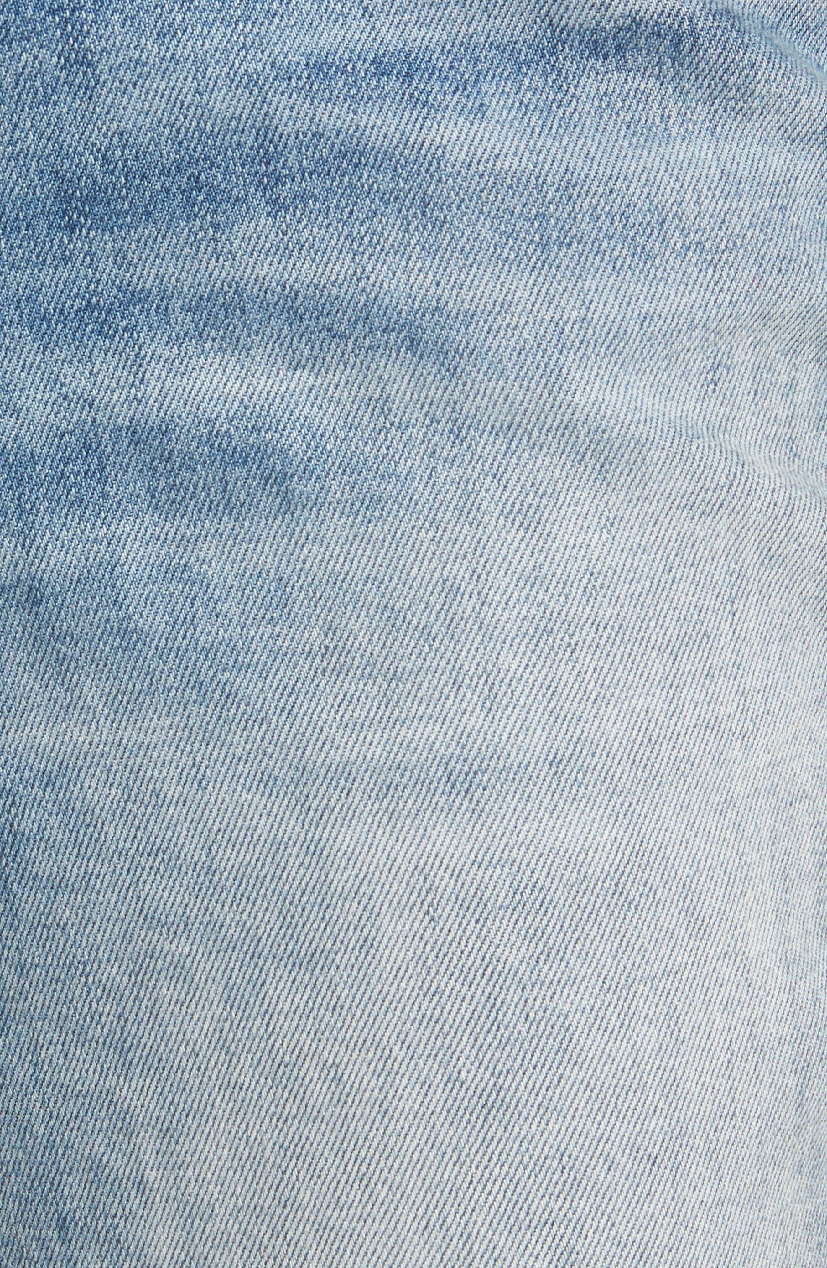 Loose Fit Slim Jeans,                             Alternate thumbnail 5, color,                             Gravel Light Destroy