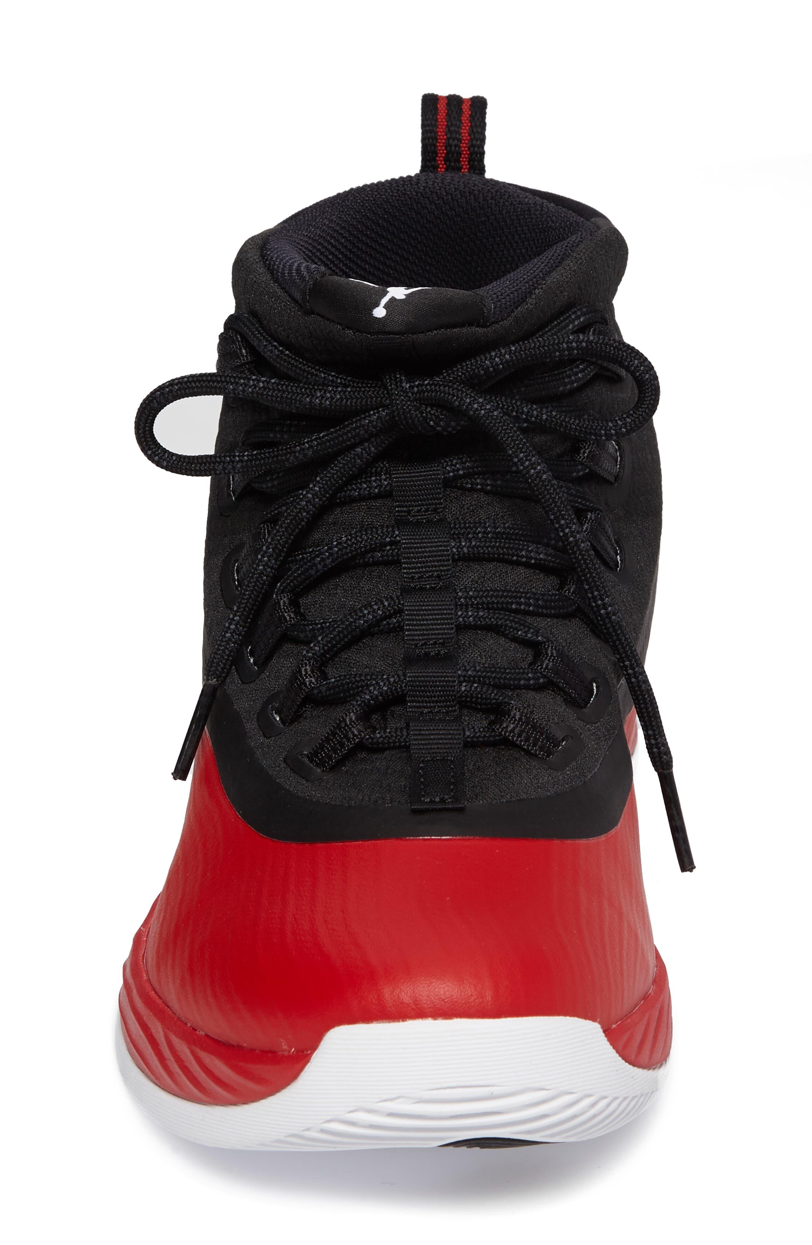Jordan Ultra Fly 2 Basketball Shoe,                             Alternate thumbnail 4, color,                             University Red/ White/ Black