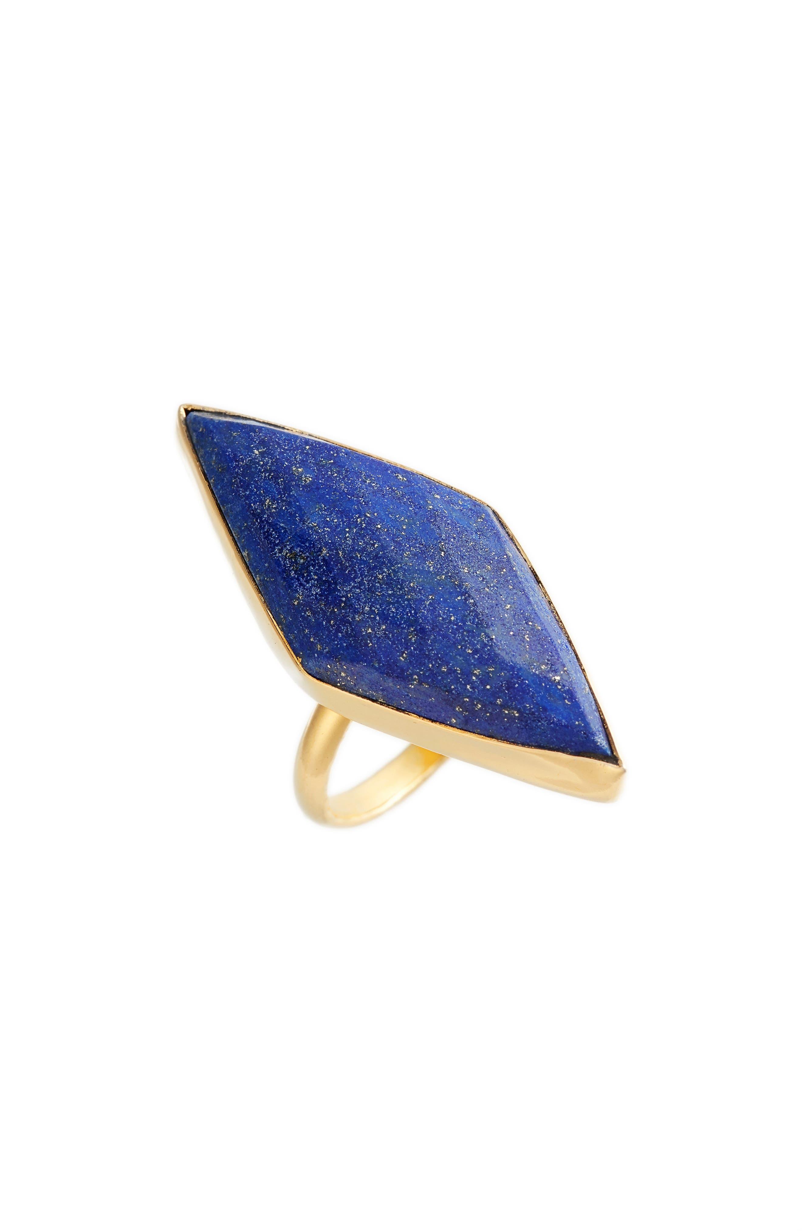Gabrysia Lapis Ring,                         Main,                         color, Blue