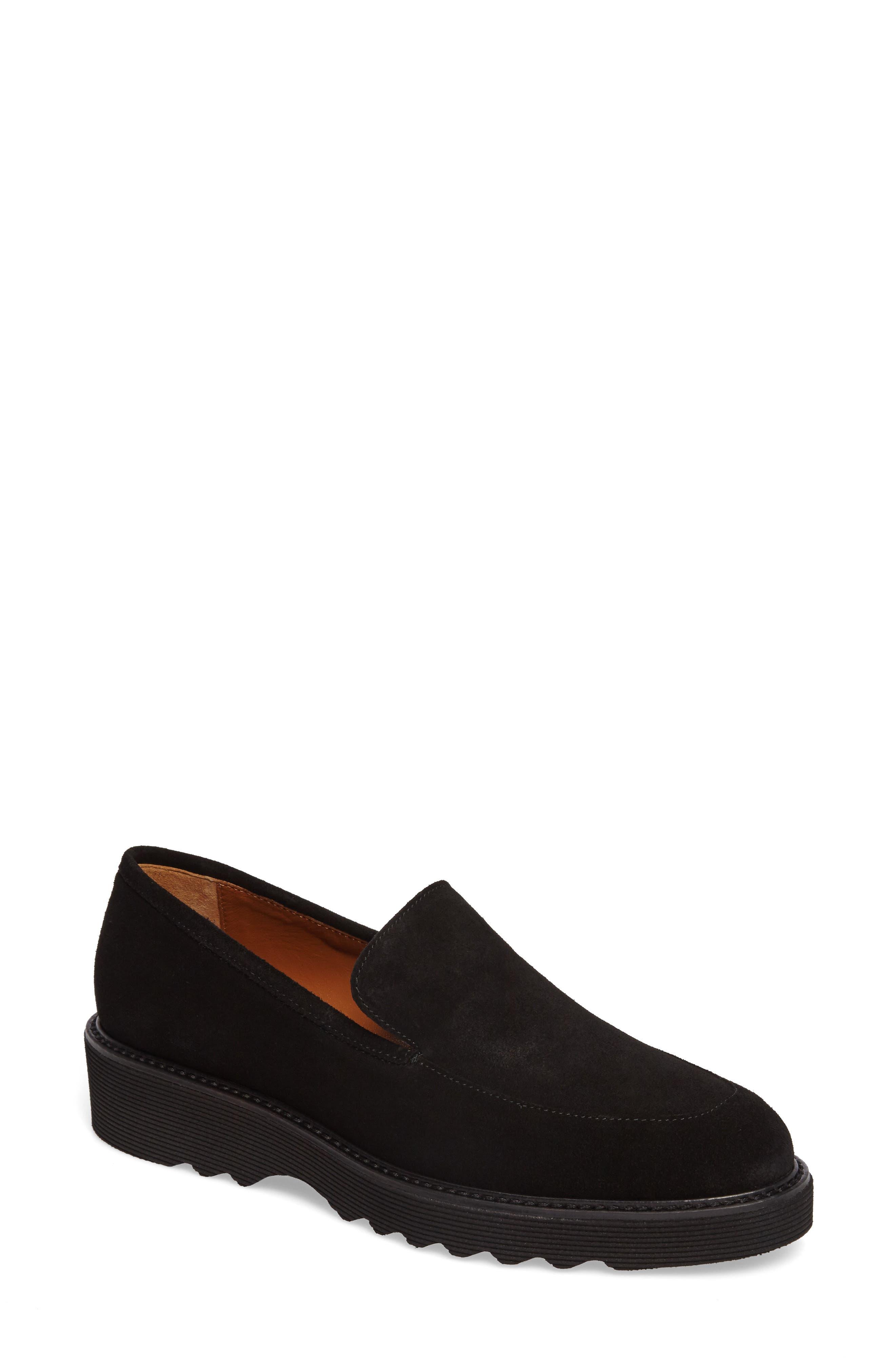 Kelsey Weatherproof Loafer,                         Main,                         color, Black Suede