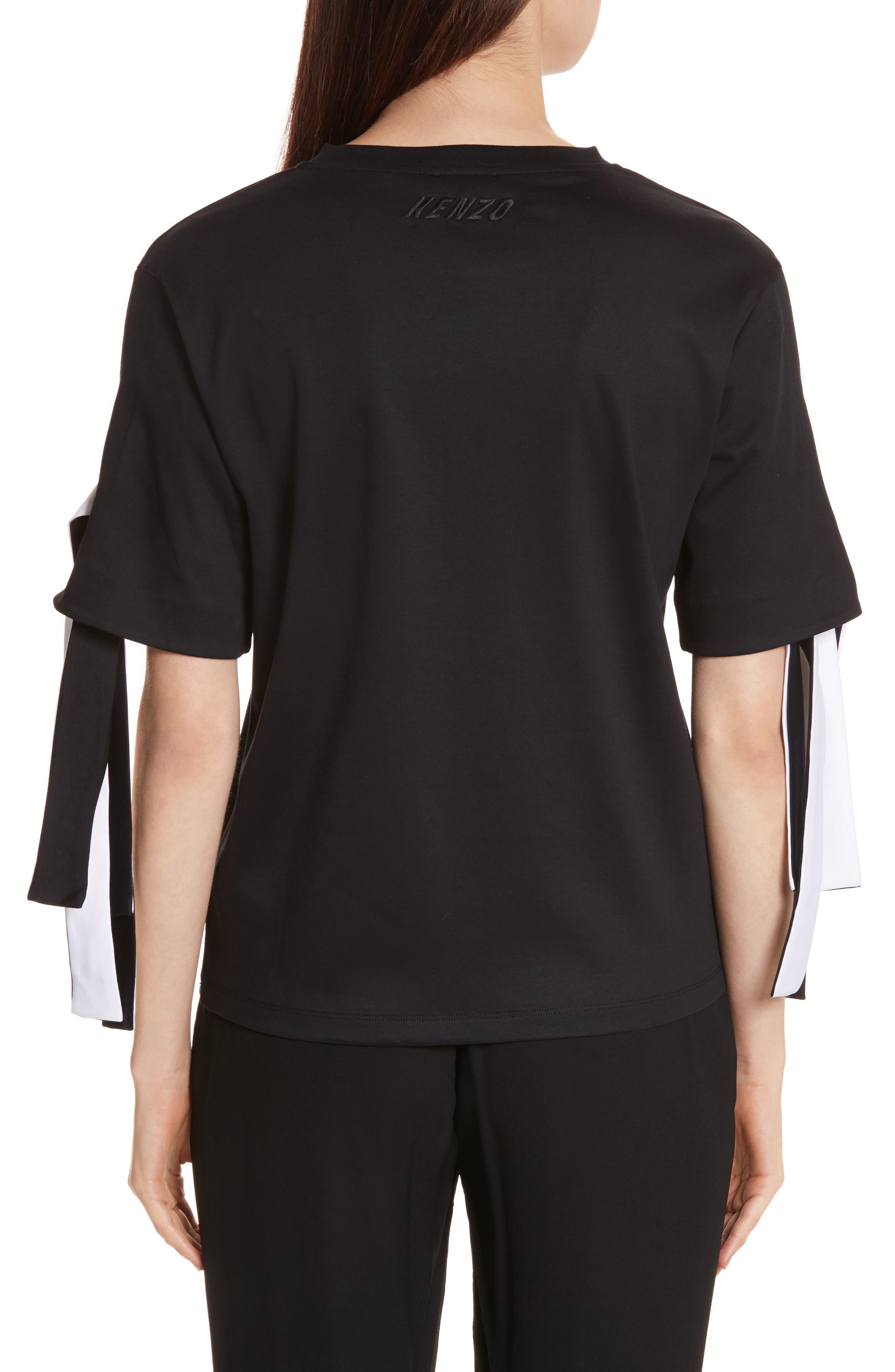 Alternate Image 2  - KENZO Tie Sleeve Cotton Tee