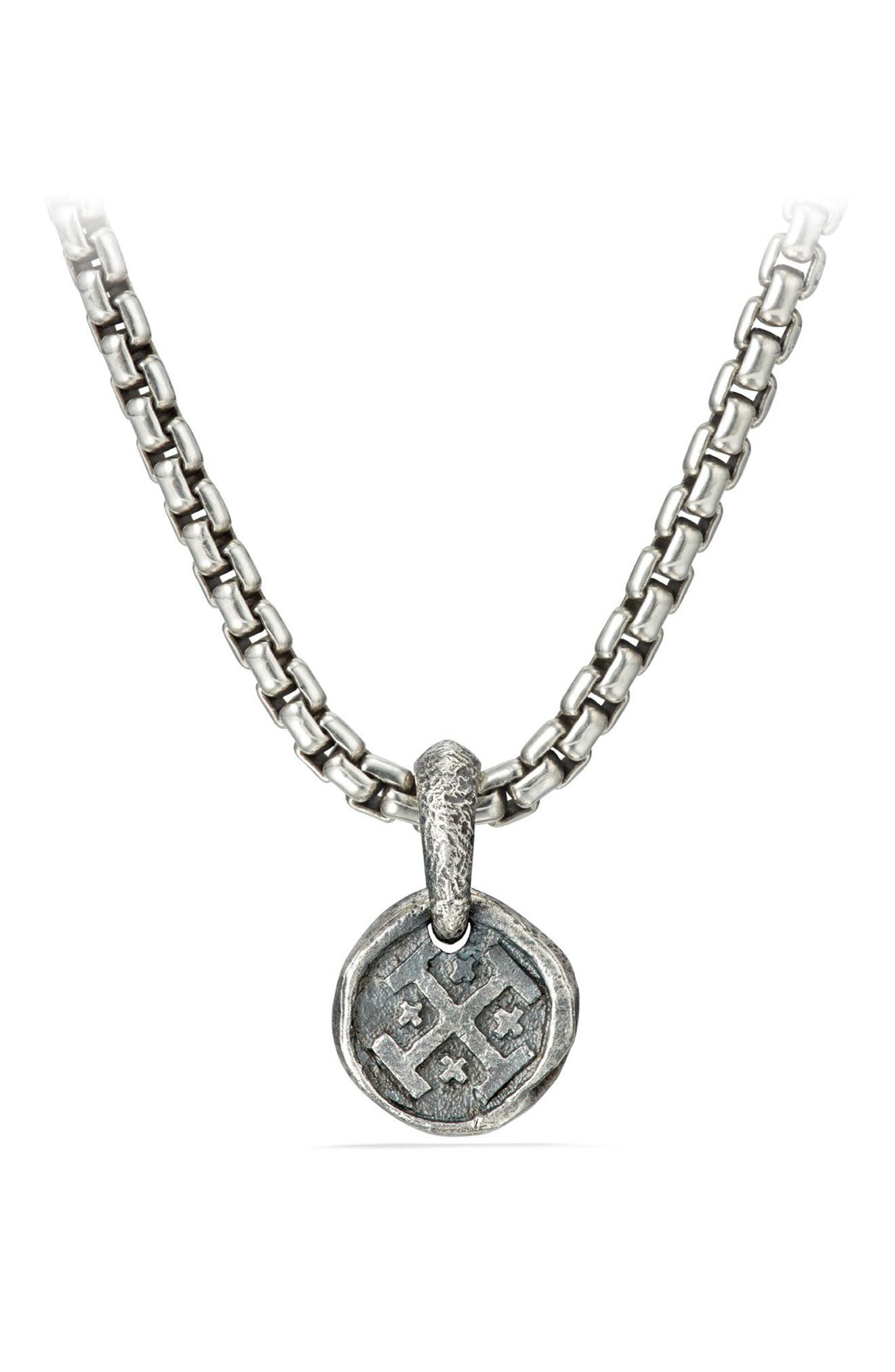 David Yurman Shipwreck Coin Amulet, 10.5mm