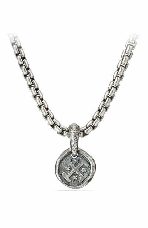 Mens necklaces pendants chains david yurman shipwreck coin amulet 105mm mozeypictures Images