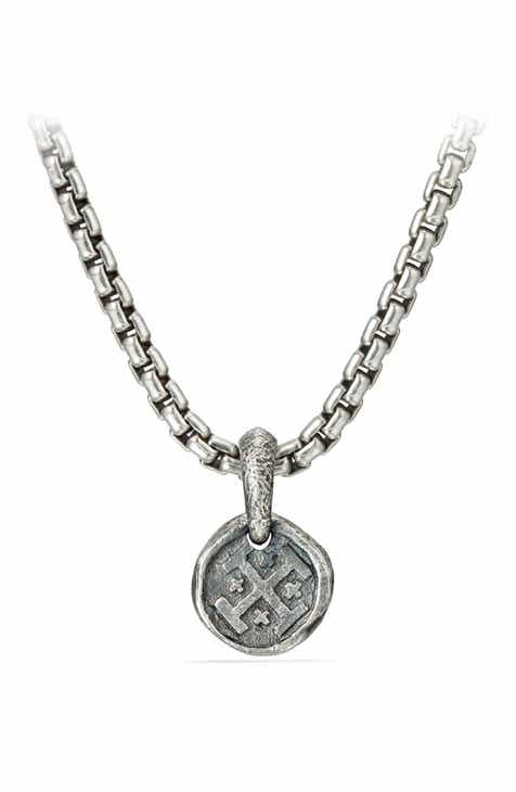 Mens necklaces pendants chains nordstrom david yurman shipwreck coin amulet 105mm mozeypictures Image collections