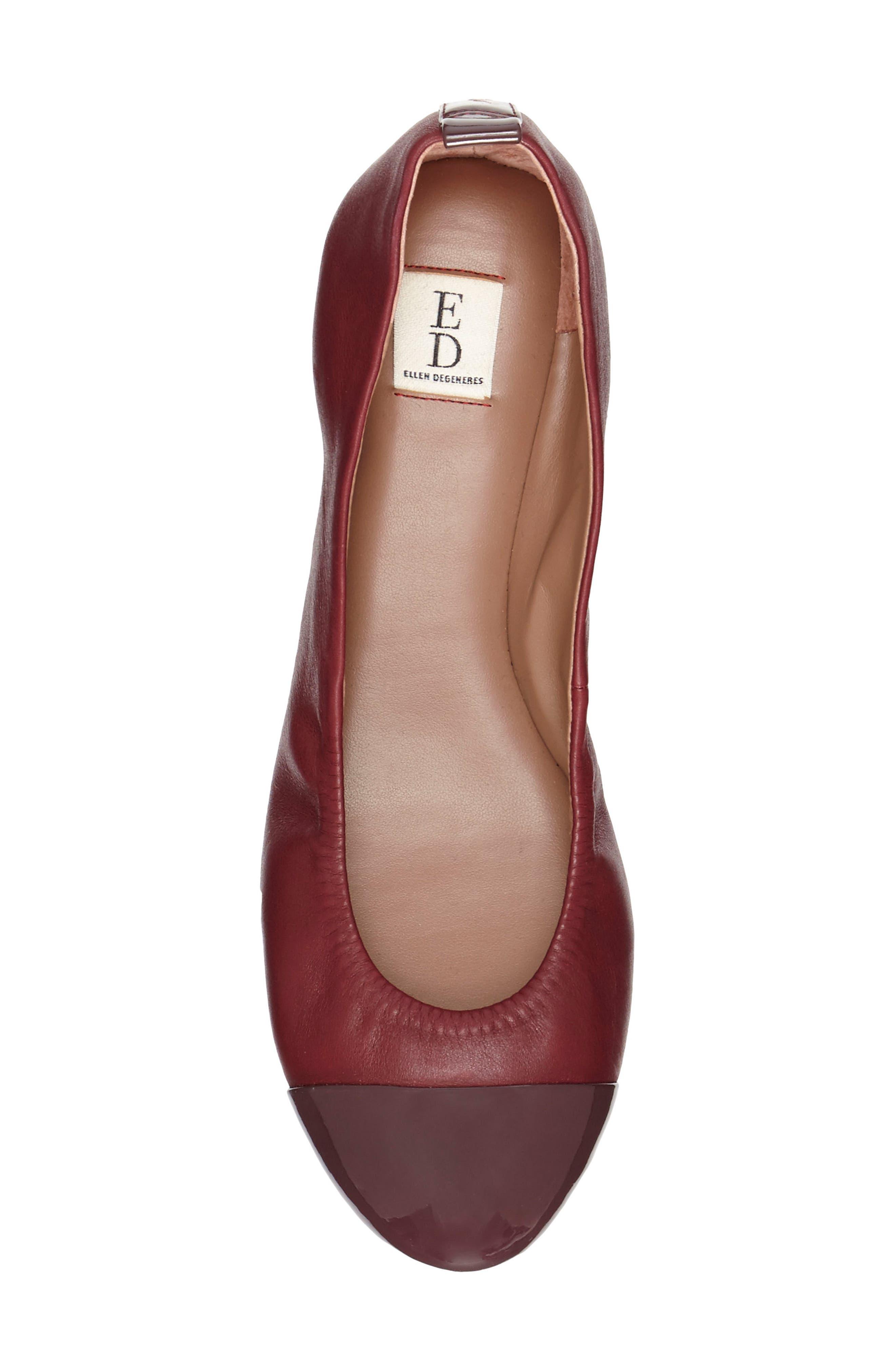 Alternate Image 4  - ED Ellen DeGeneres Lilliane Cap Toe Ballet Flat (Women)