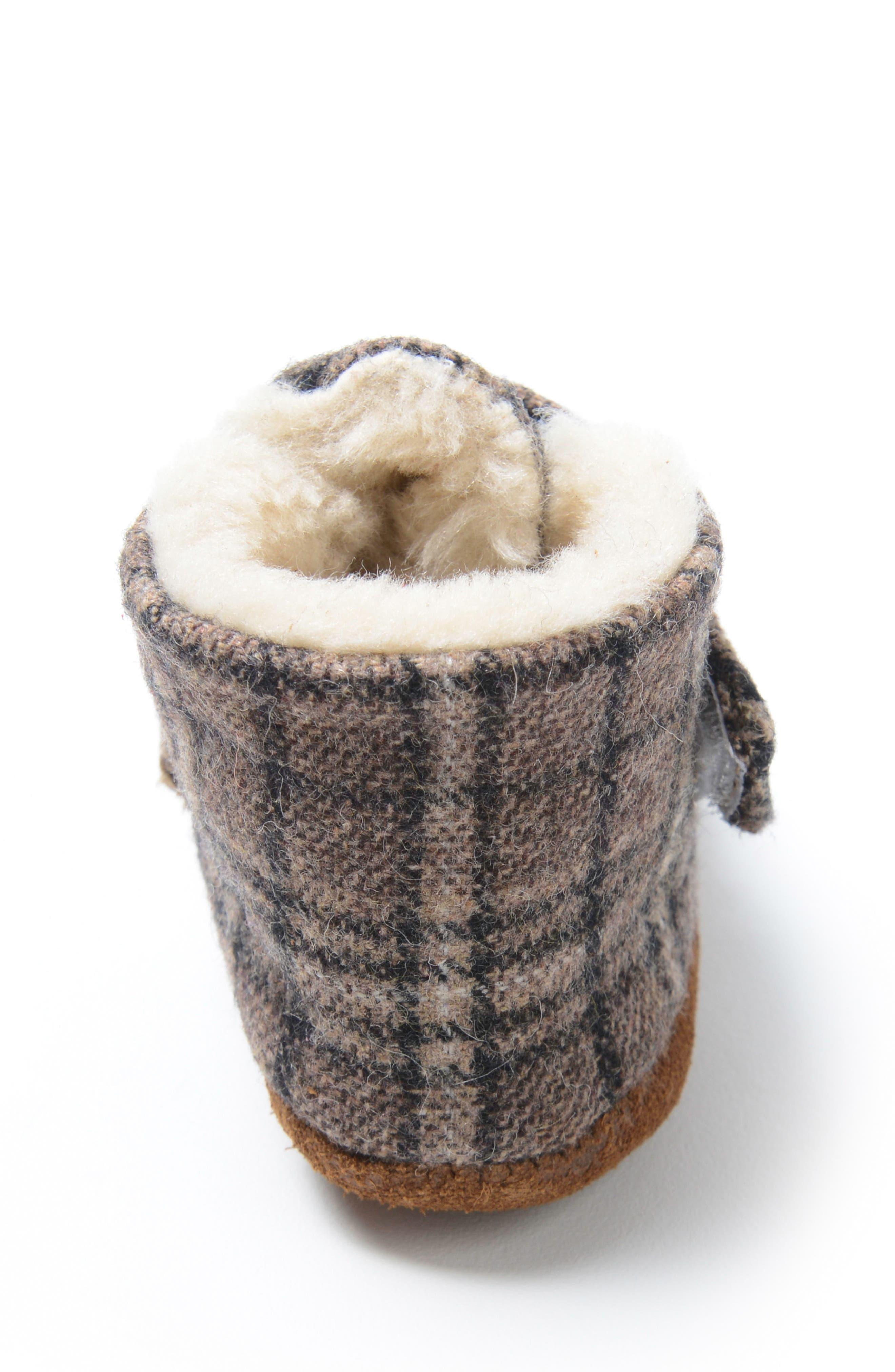Alternate Image 3  - Minnetonka Sawyer Faux Fur Bootie (Baby, Walker)