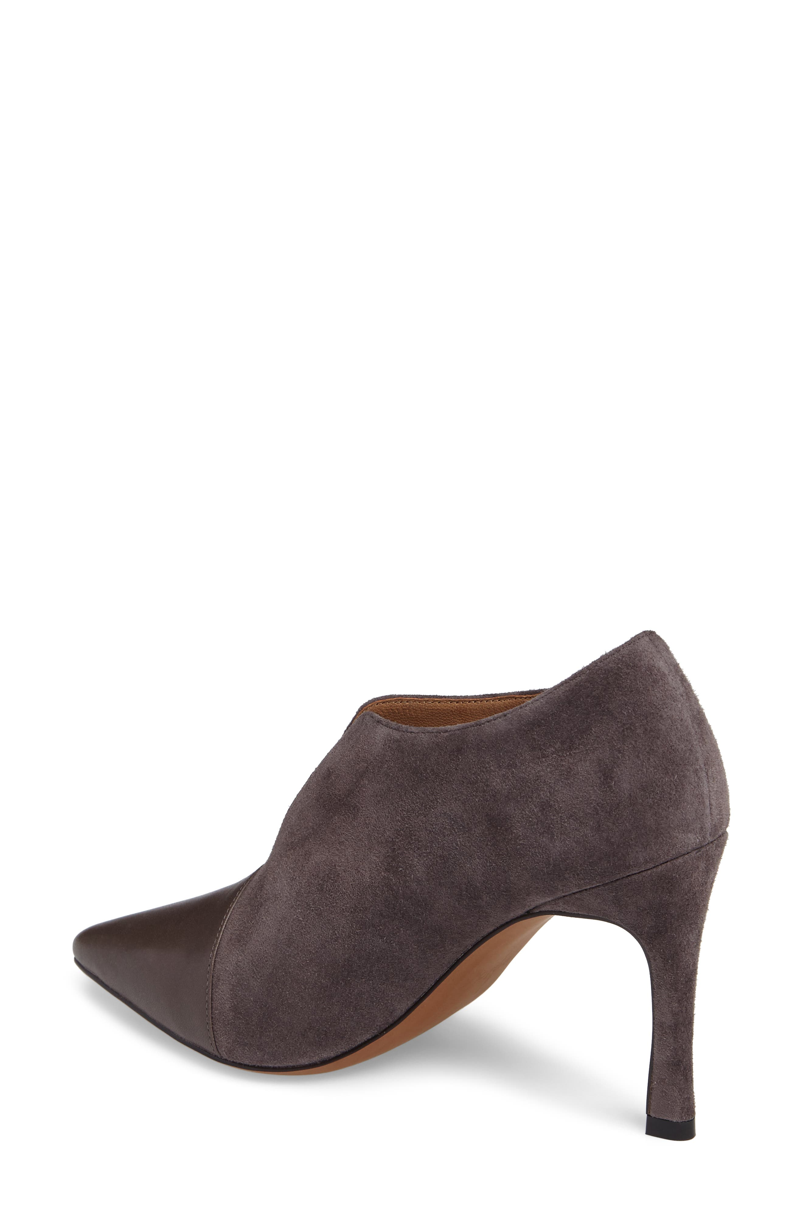 Pointy Toe Bootie,                             Alternate thumbnail 2, color,                             Ash Suede
