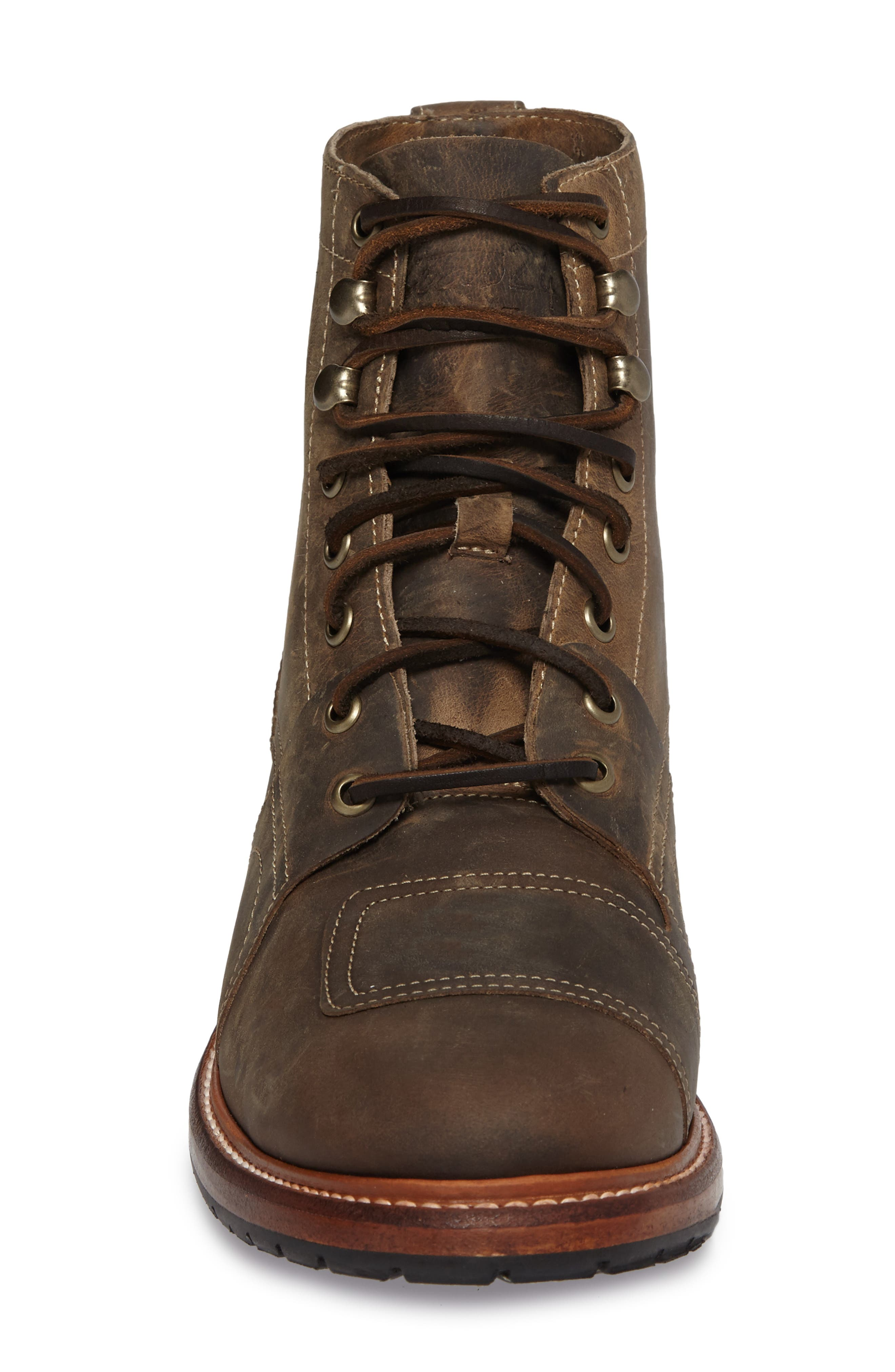 Cypress Plain Toe Boot,                             Alternate thumbnail 4, color,                             Brown Leather