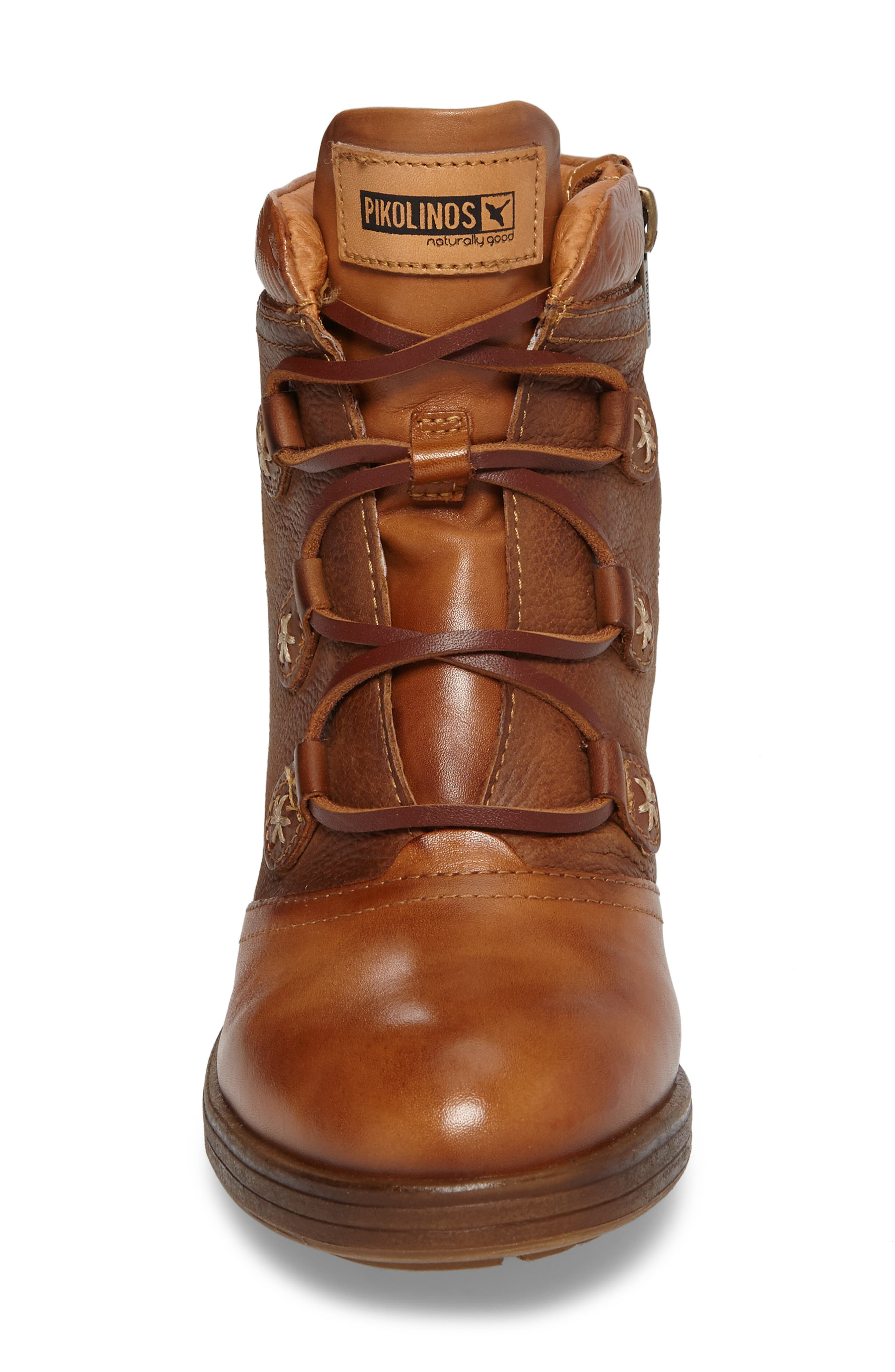 Lyon Lace-Up Boot,                             Alternate thumbnail 4, color,                             Brandy Leather