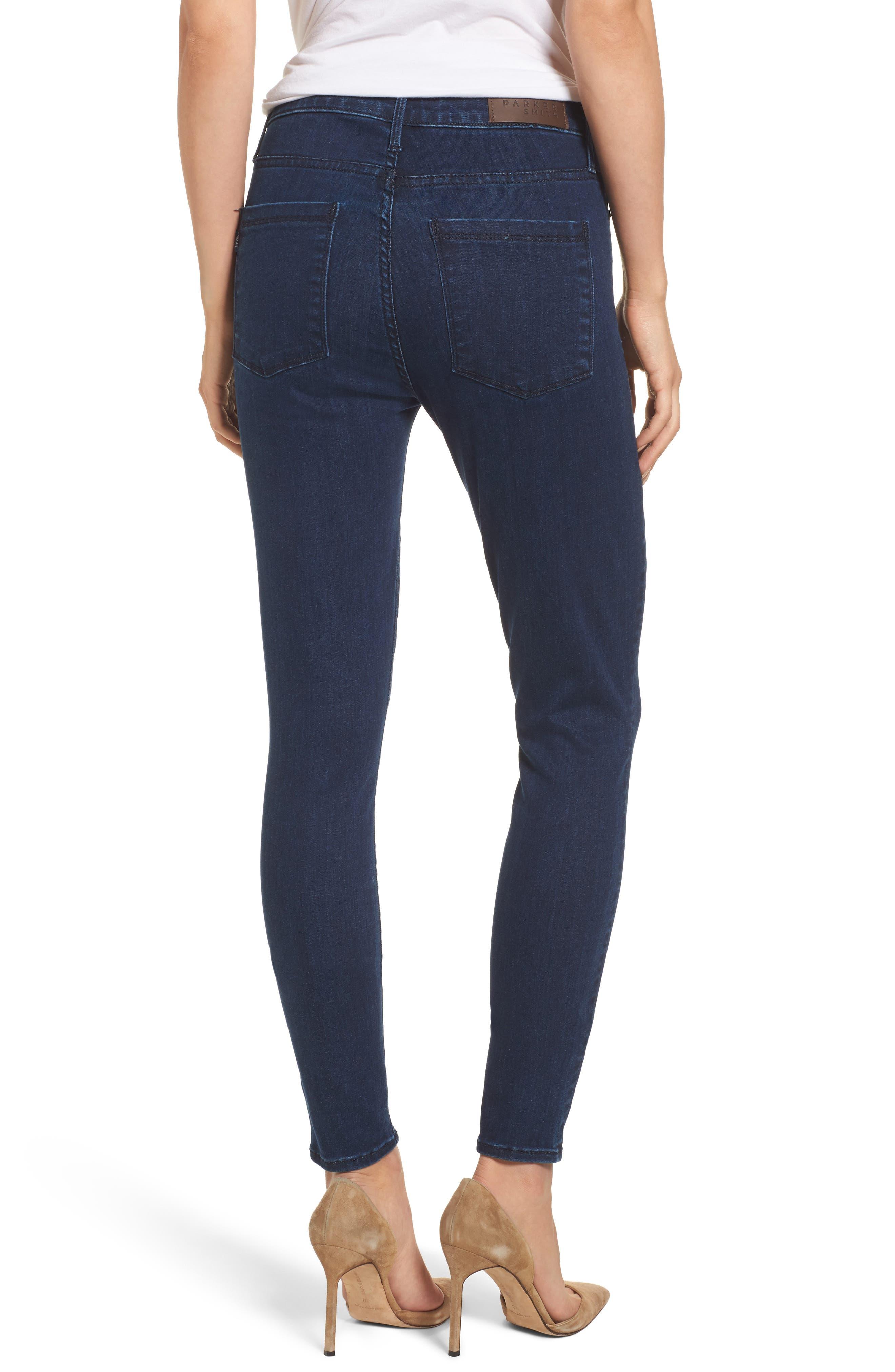 Alternate Image 2  - Parker Smith Bombshell High Waist Skinny Jeans (Sky Line)