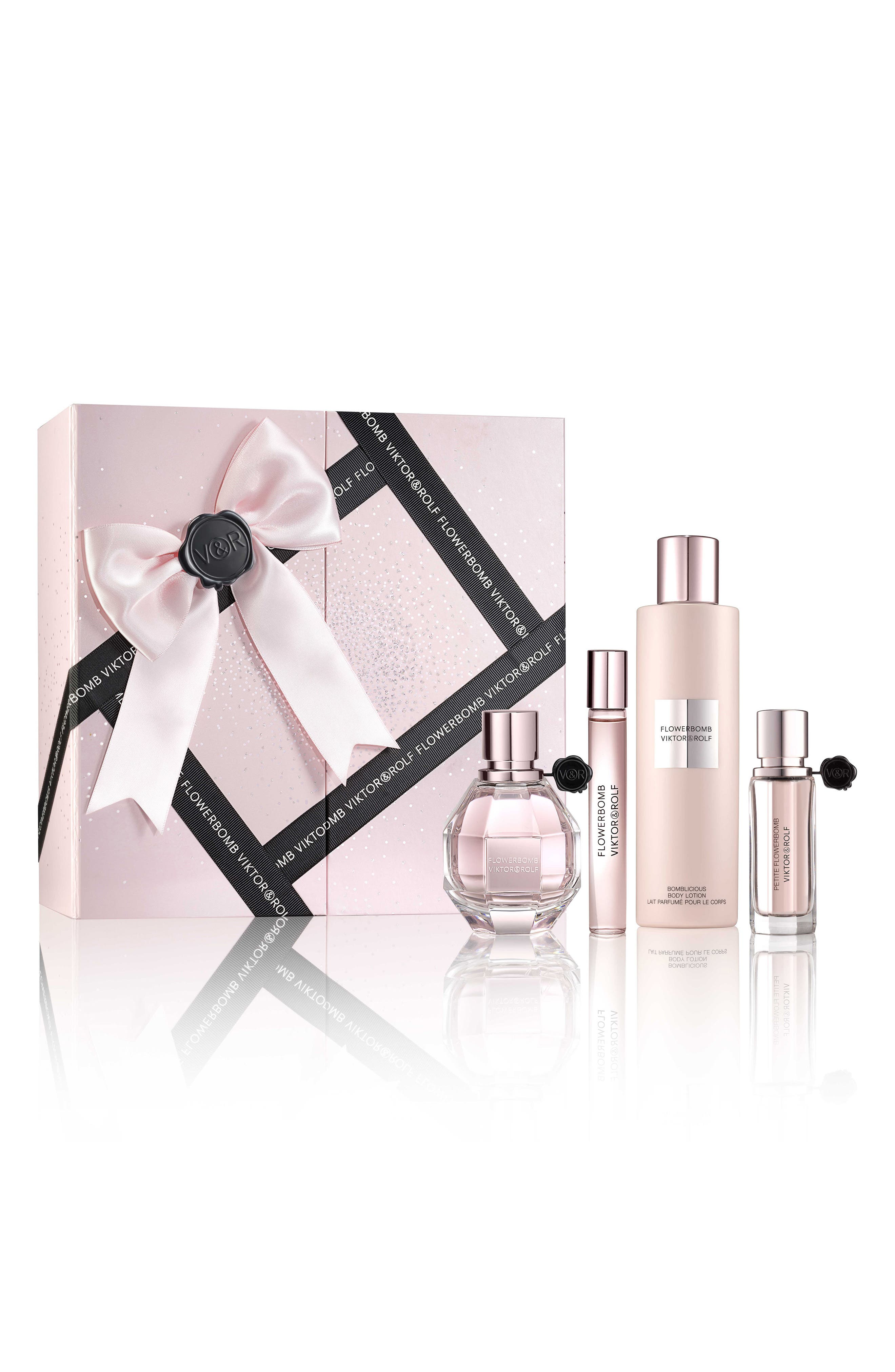 Flowerbomb Four-Piece Luxury Set,                             Main thumbnail 1, color,                             No Color