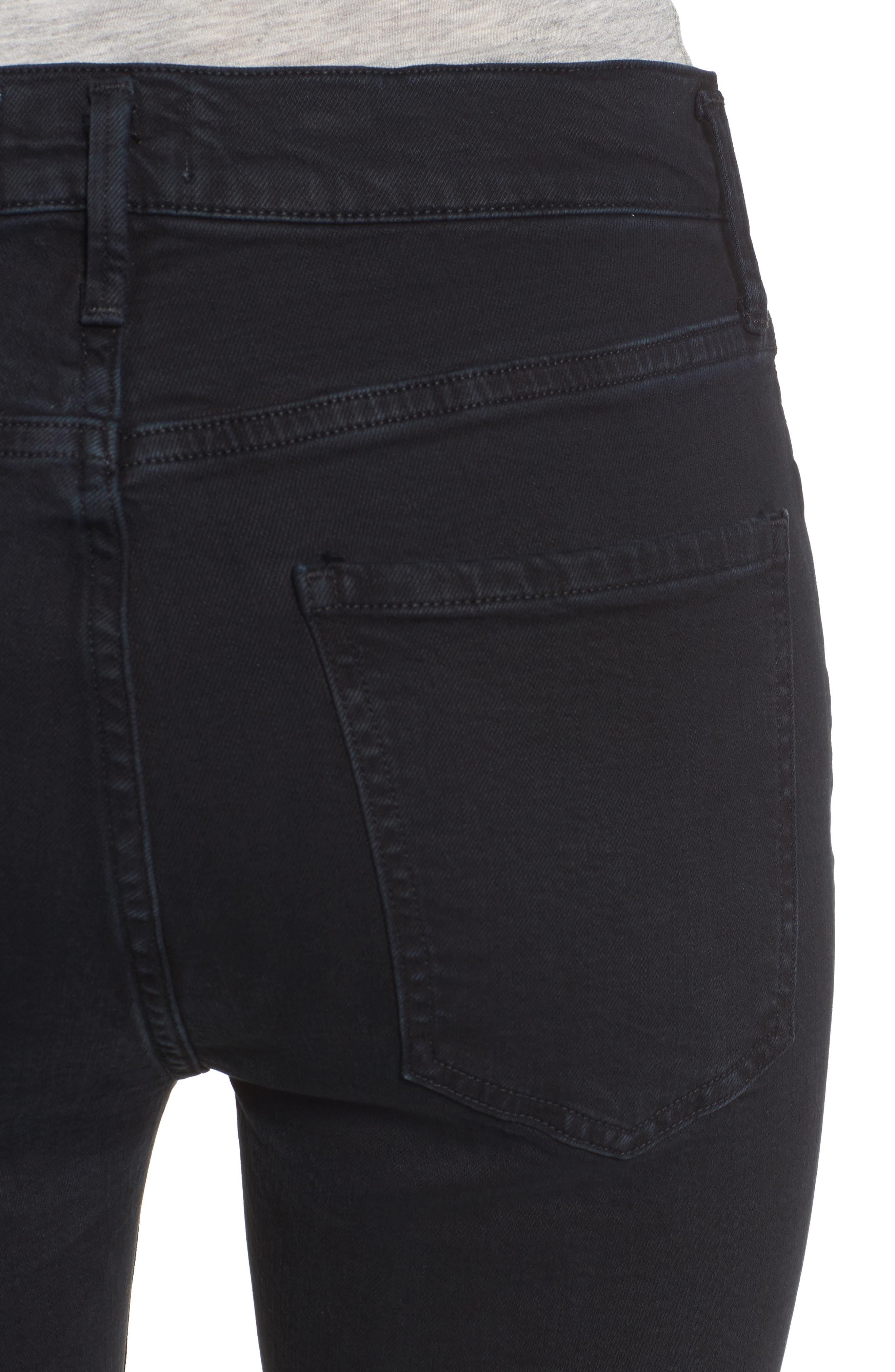 Alternate Image 4  - AGOLDE Sophie Crop High Rise Skinny Jeans (Princeton)