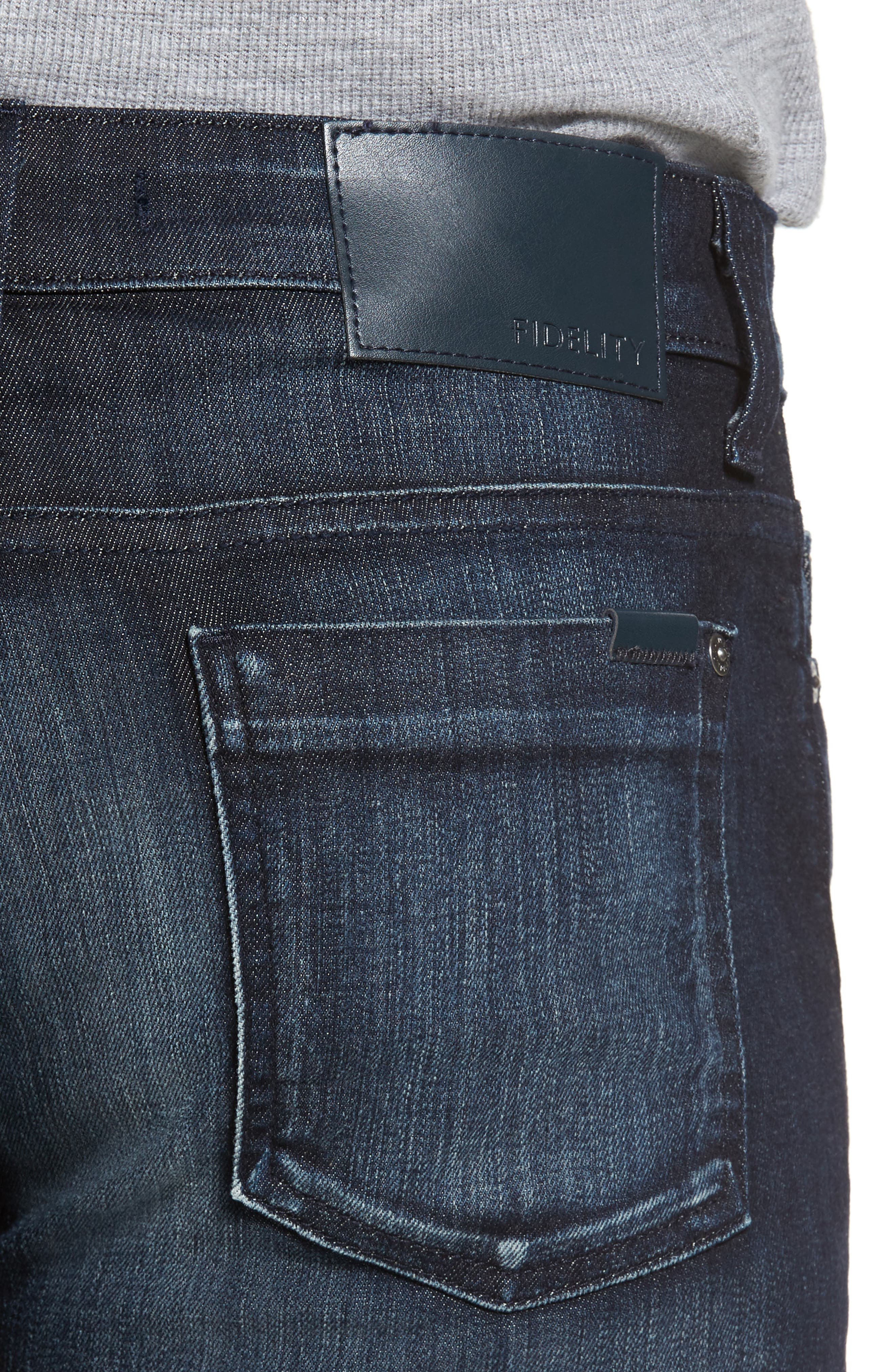 Alternate Image 4  - Fidelity Denim 5011 Relaxed Fit Jeans (Brooklyn Blue)