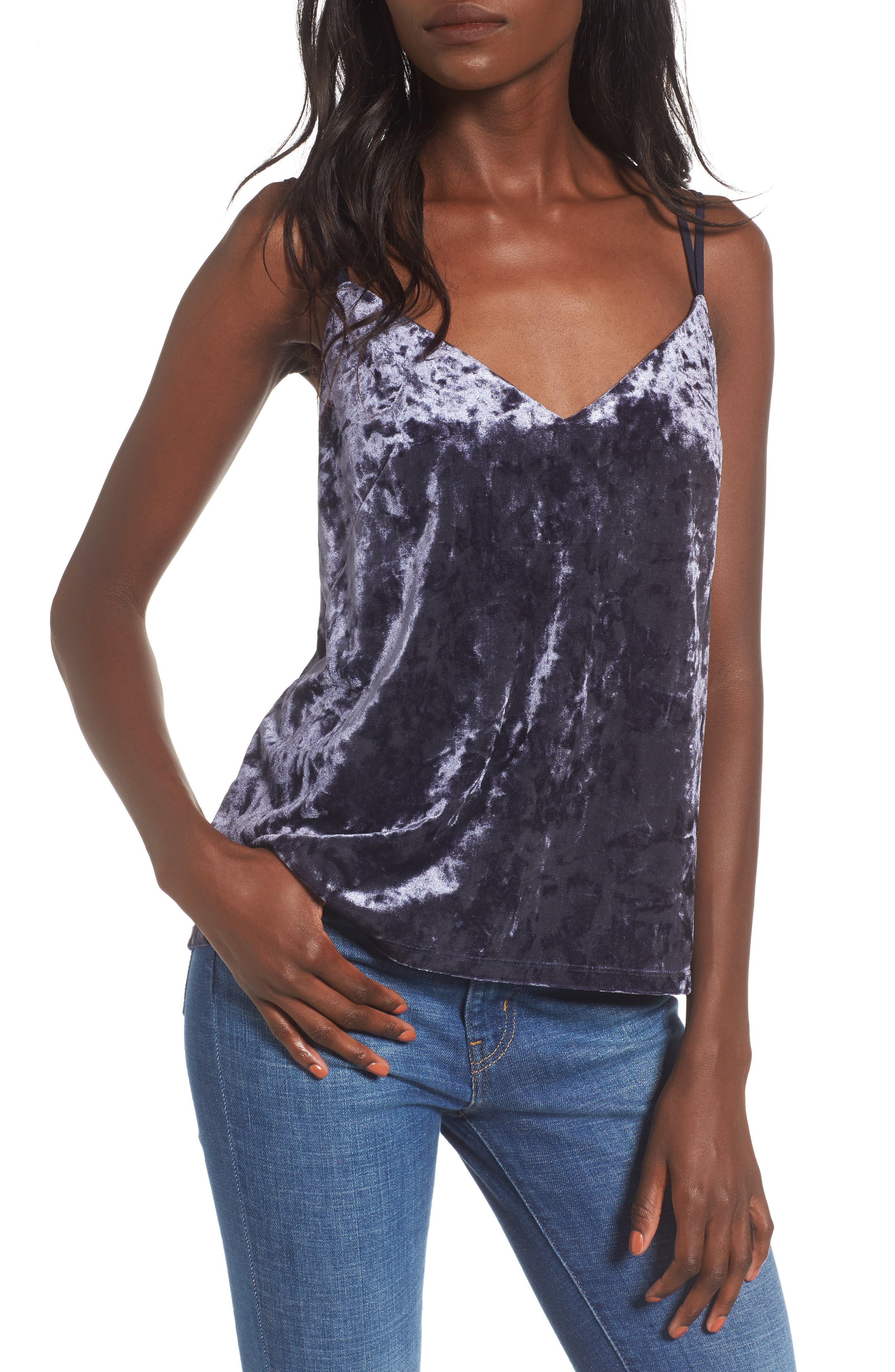 Love, Fire Crushed Velvet Camisole