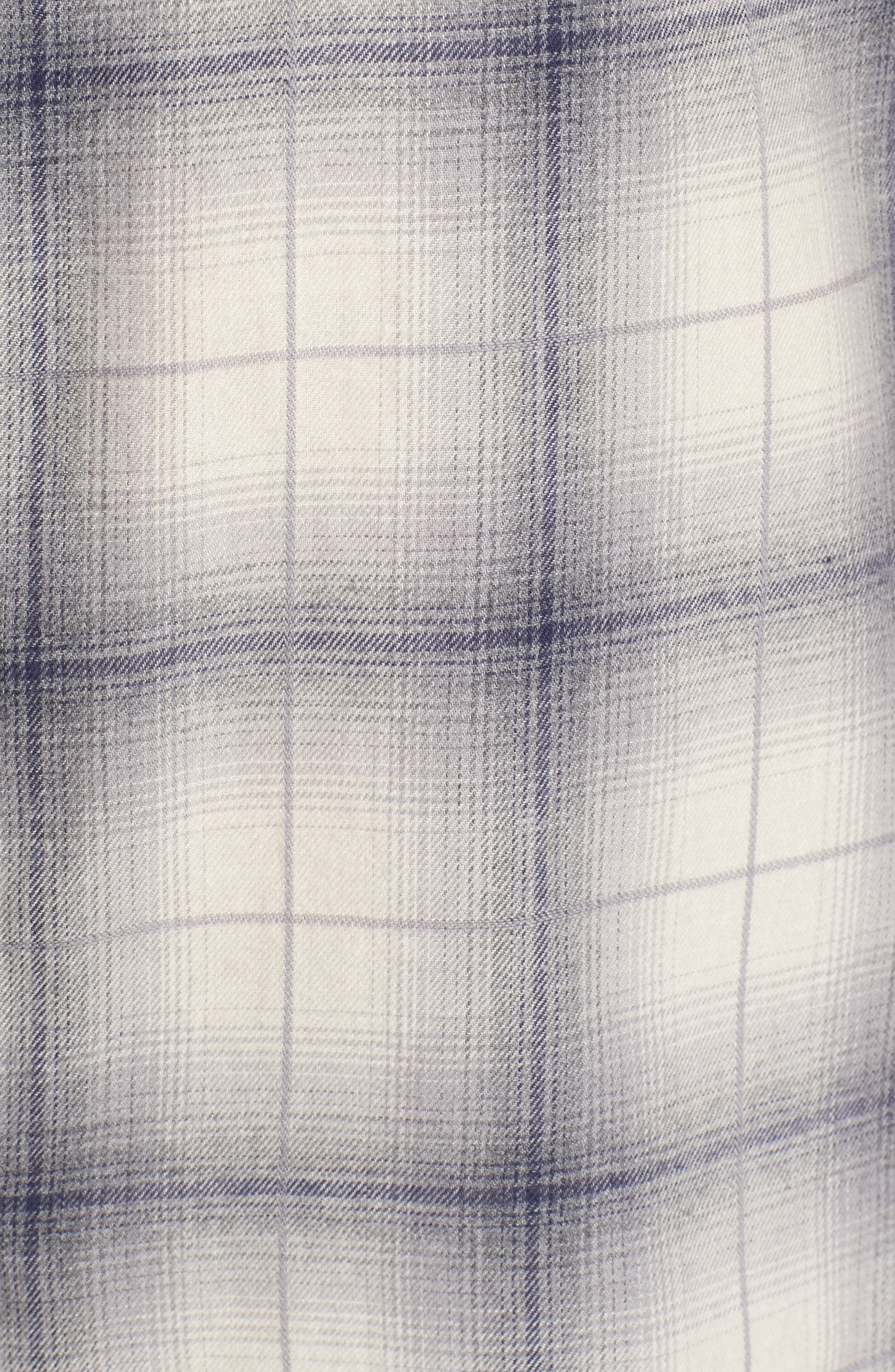 Kirby Slim Fit Plaid Flannel Shirt,                             Alternate thumbnail 5, color,                             Grey/ Blue