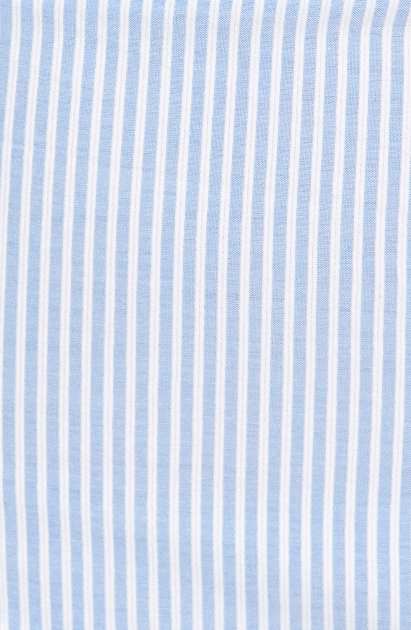 The Malibu Off the Shoulder Dress,                             Alternate thumbnail 7, color,                             Pinstriped Blue