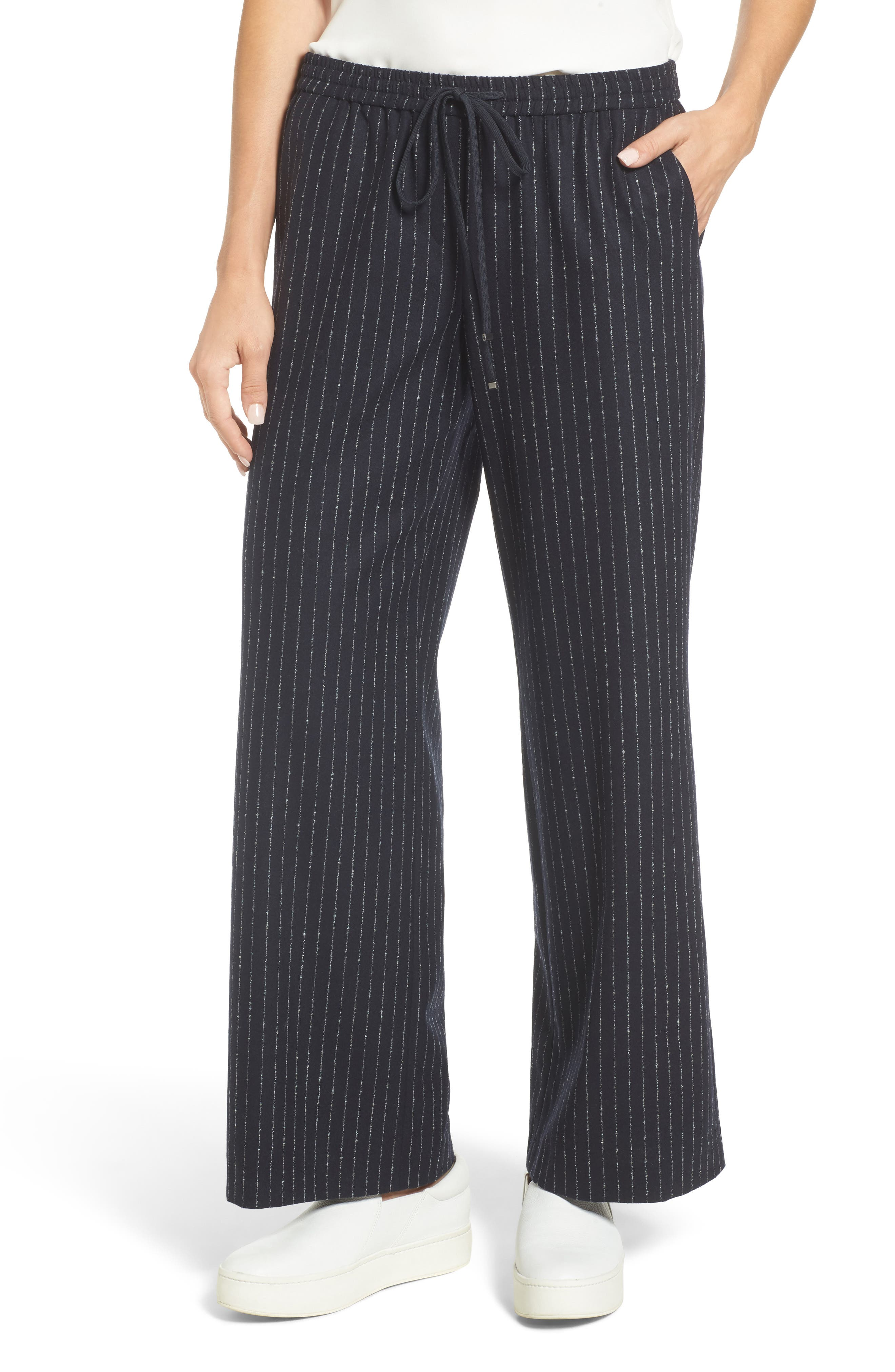 Alternate Image 1 Selected - Nordstrom Signature Wide-Leg Crop Pants