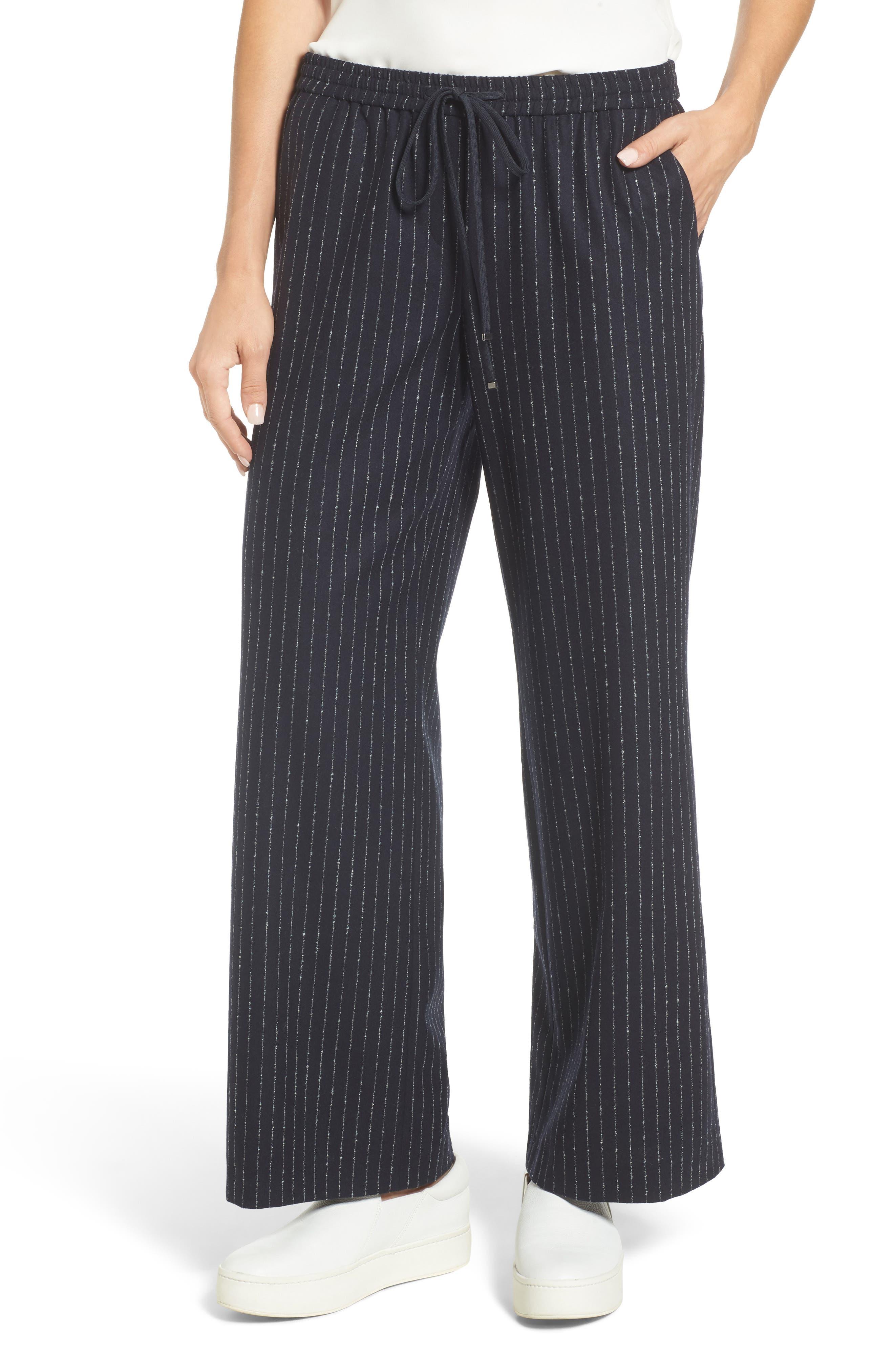 Main Image - Nordstrom Signature Wide-Leg Crop Pants