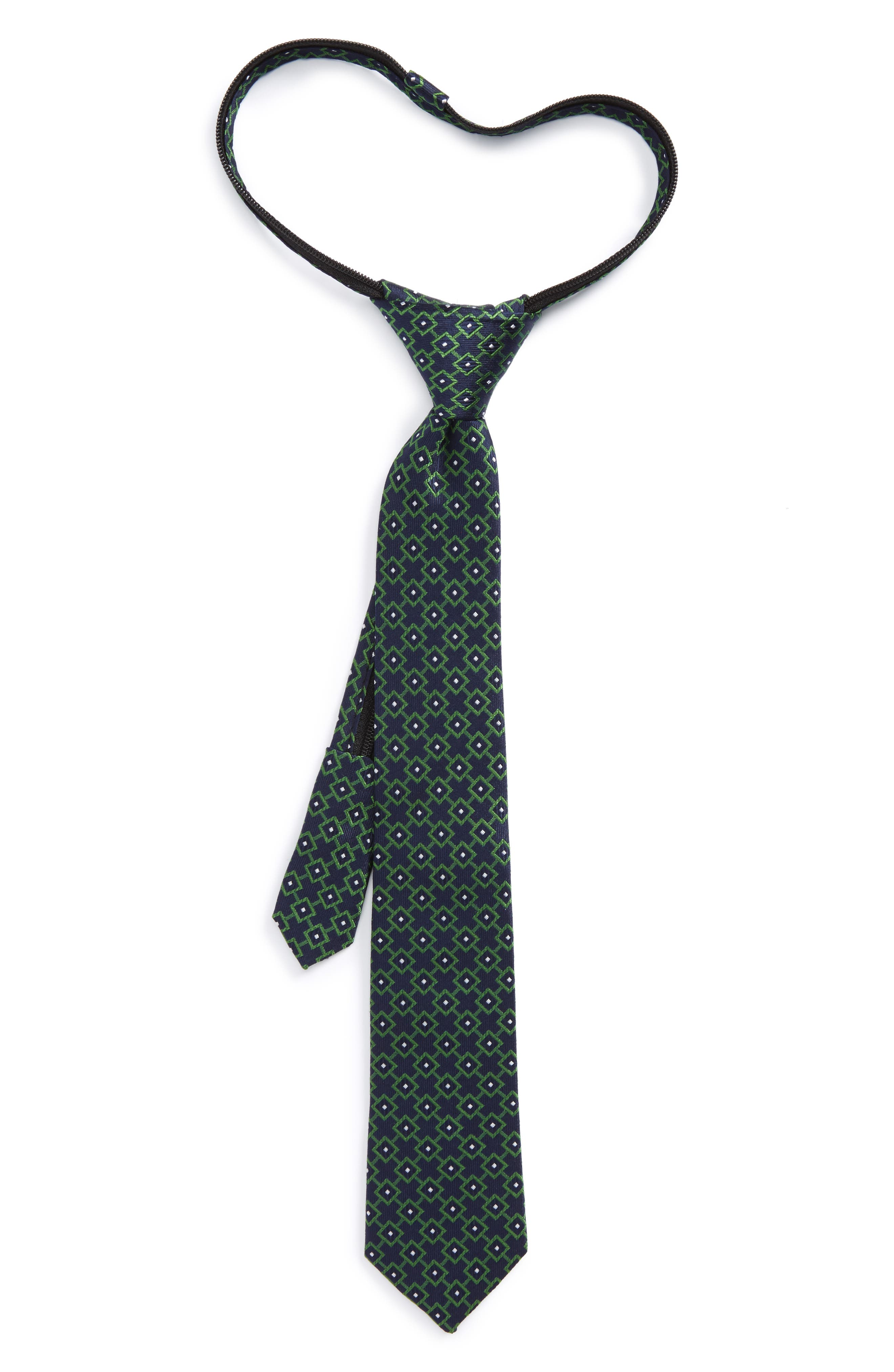 Nordstrom Medallion Silk Zip Tie (Little Boys)