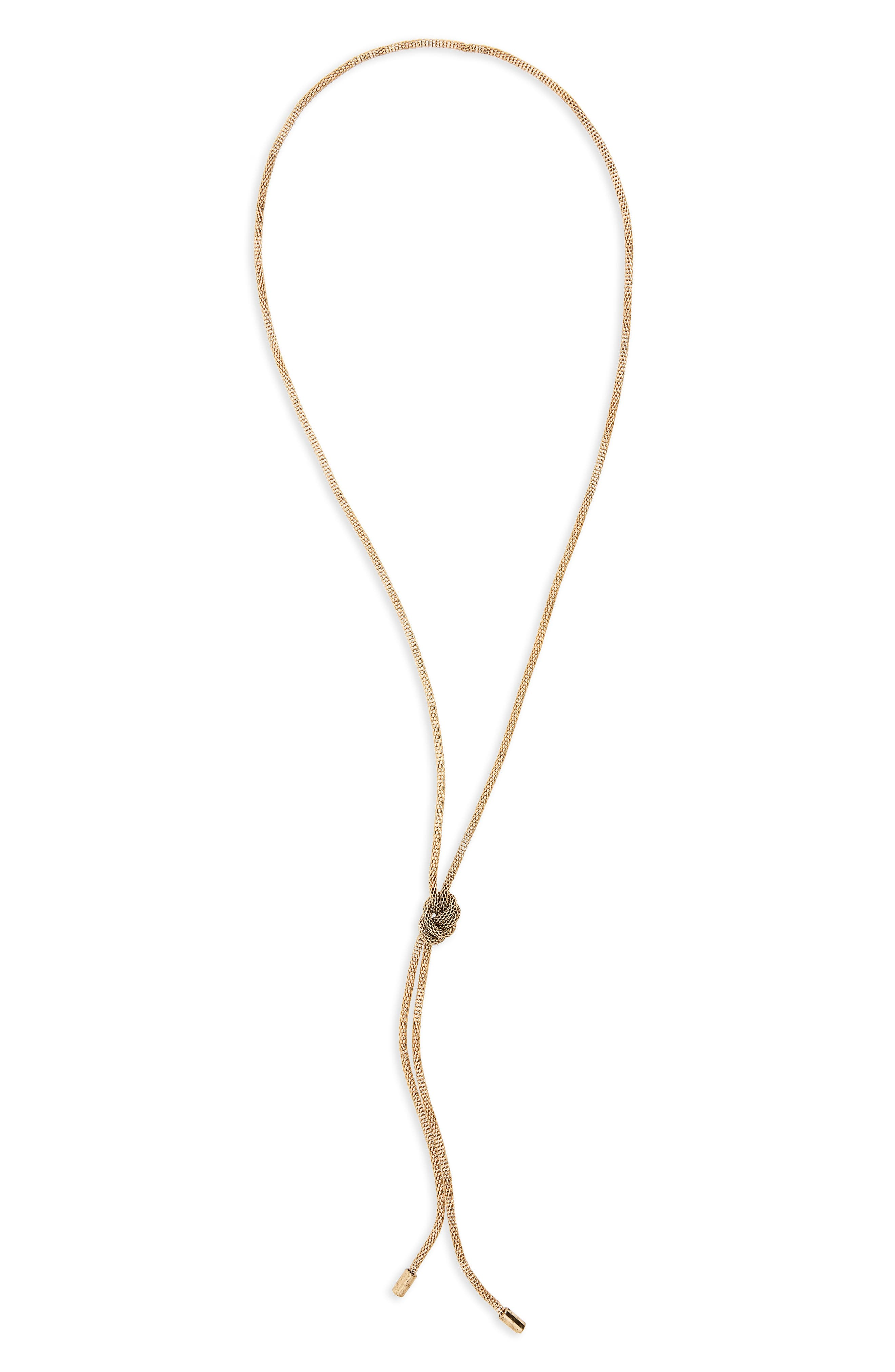 Knotted Rope Chain Necklace,                             Main thumbnail 1, color,                             Gold