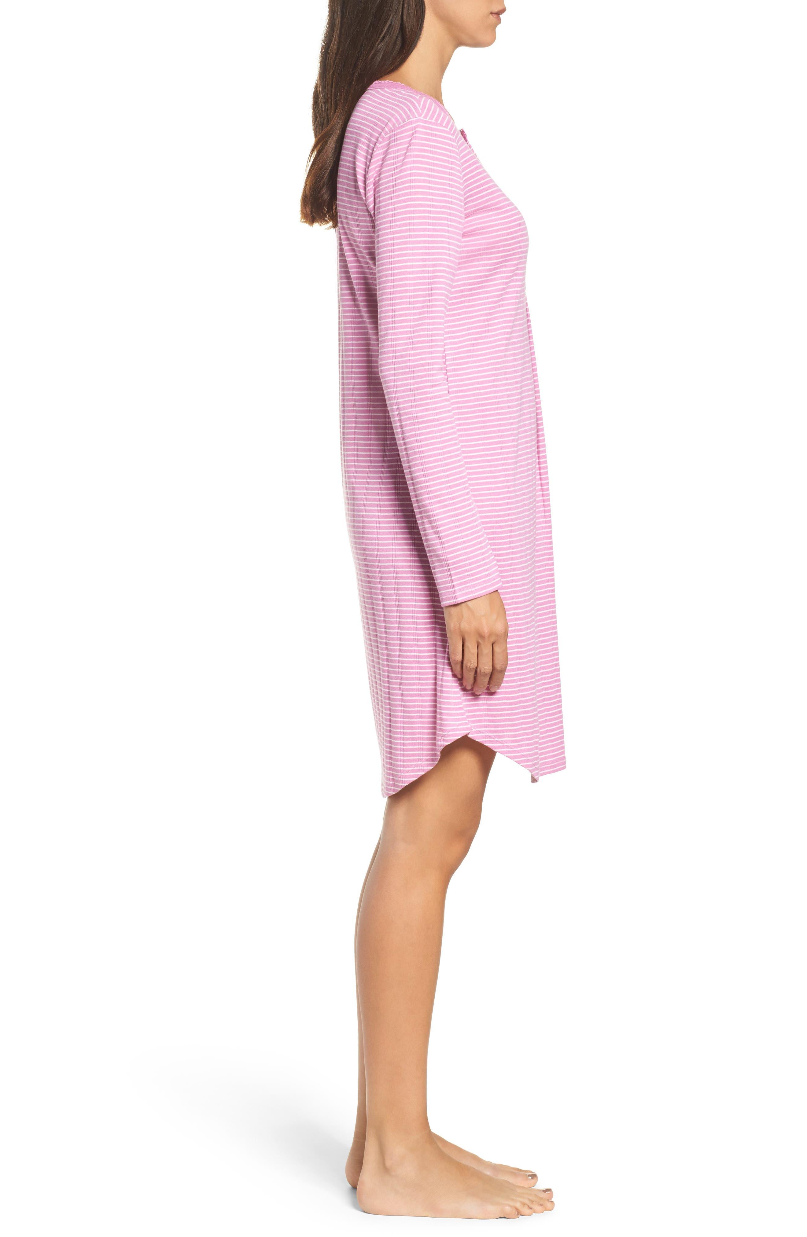 Alternate Image 3  - Lauren Ralph Lauren Stripe Henley Sleep Shirt
